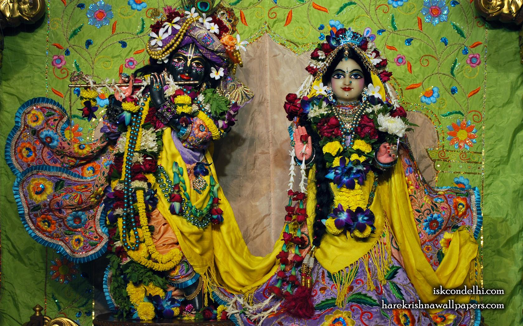 Sri Sri Radha Parthasarathi Wallpaper (008) Size 1680x1050 Download