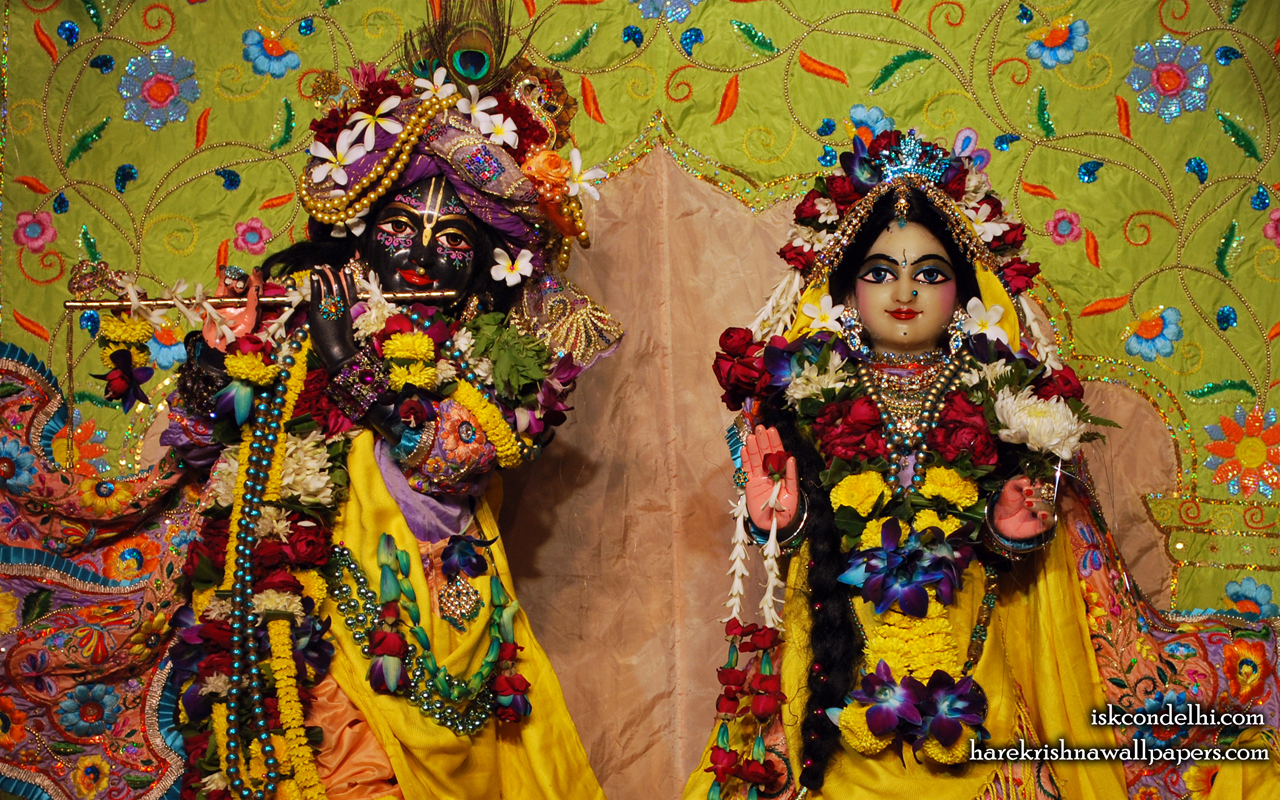 Sri Sri Radha Parthasarathi Close up Wallpaper (008) Size 1280x800 Download