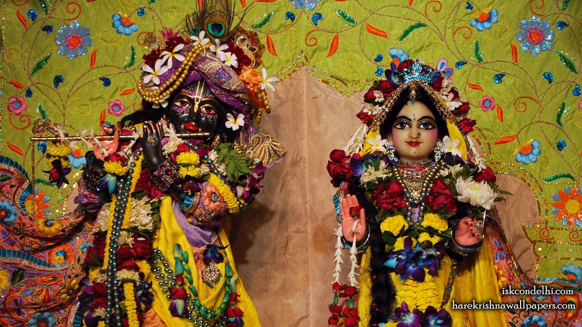 Sri Sri Radha Parthasarathi Close up Wallpaper (008) Size 1920x1080 Download