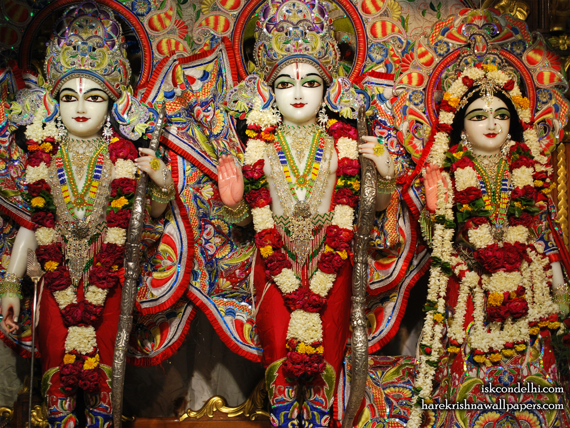 Sri Sri Sita Rama Laxman Wallpaper (008) Size 1152x864 Download