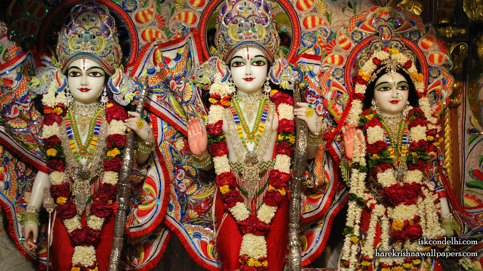 Sri Sri Sita Rama Laxman Wallpaper (008) Size 1600x900 Download