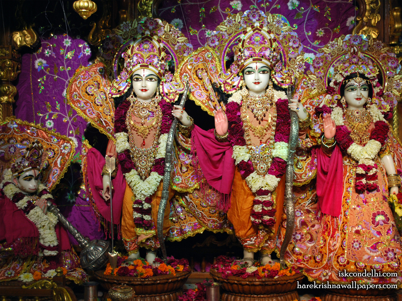Sri Sri Sita Rama Laxman Hanuman Wallpaper (008) Size 1280x960 Download