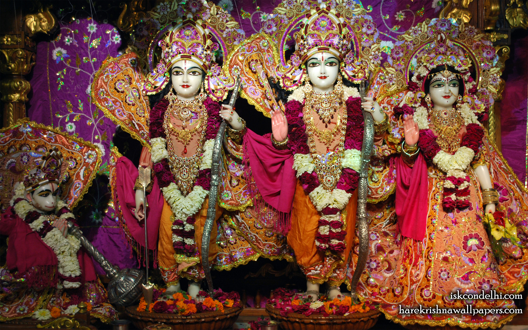 Sri Sri Sita Rama Laxman Hanuman Wallpaper (008) Size 1680x1050 Download