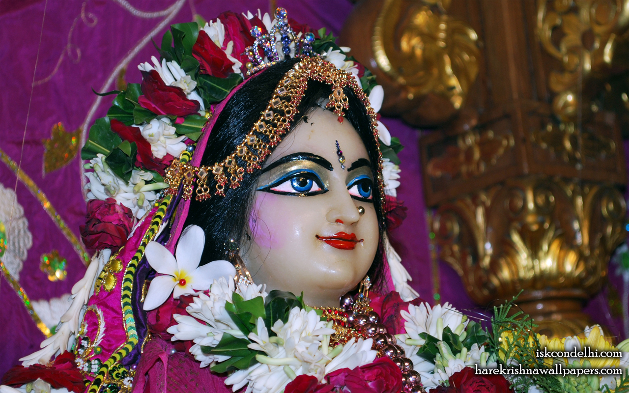 Sri Radha Close up Wallpaper (009) Size 1280x800 Download
