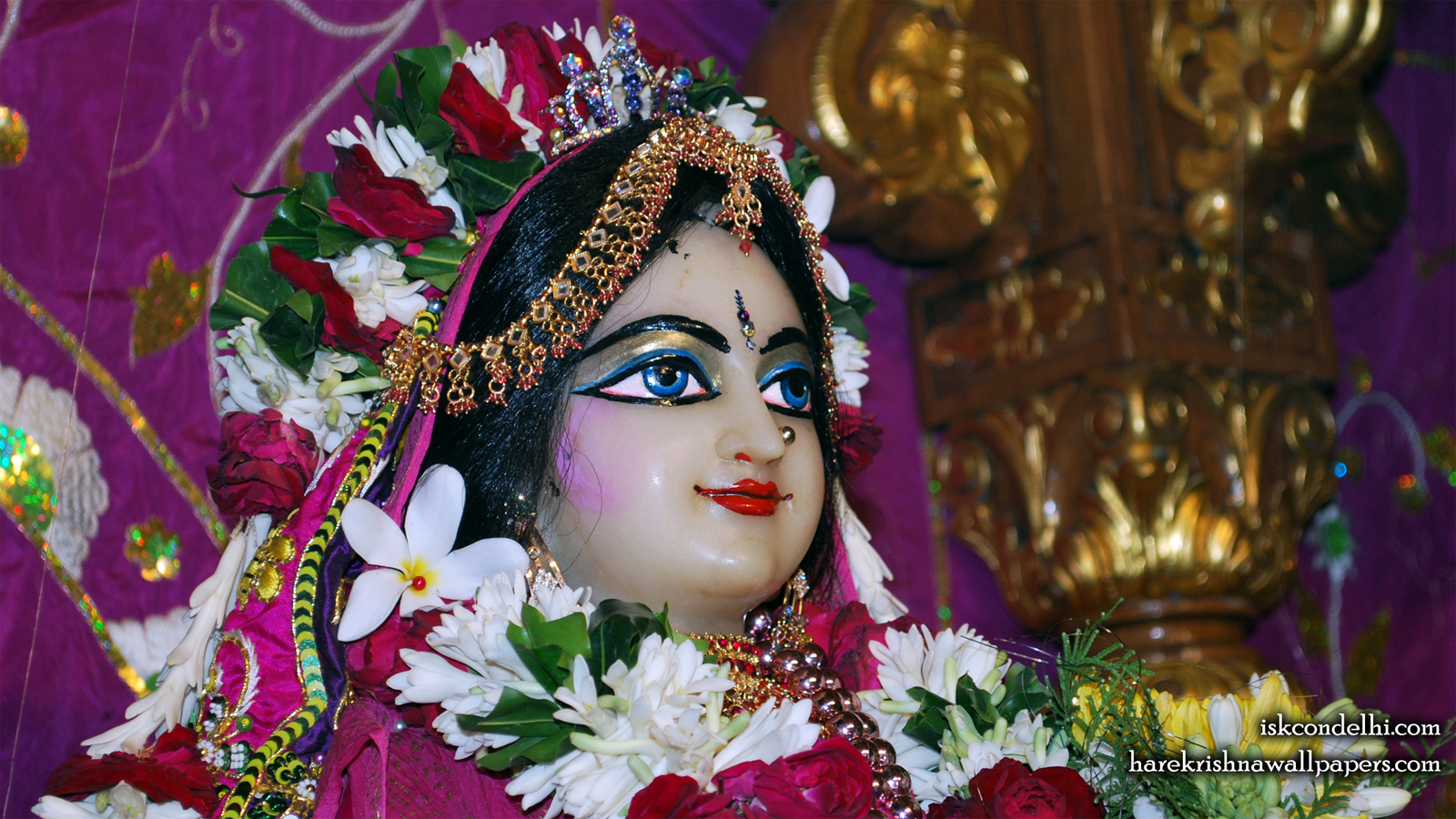 Sri Radha Close up Wallpaper (009) Size 1600x900 Download