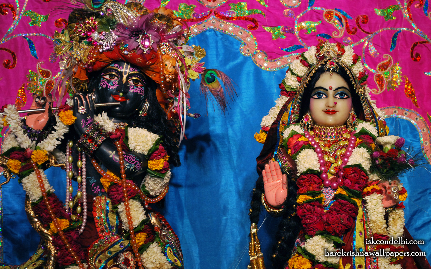 Sri Sri Radha Parthasarathi Close up Wallpaper (009) Size 1440x900 Download