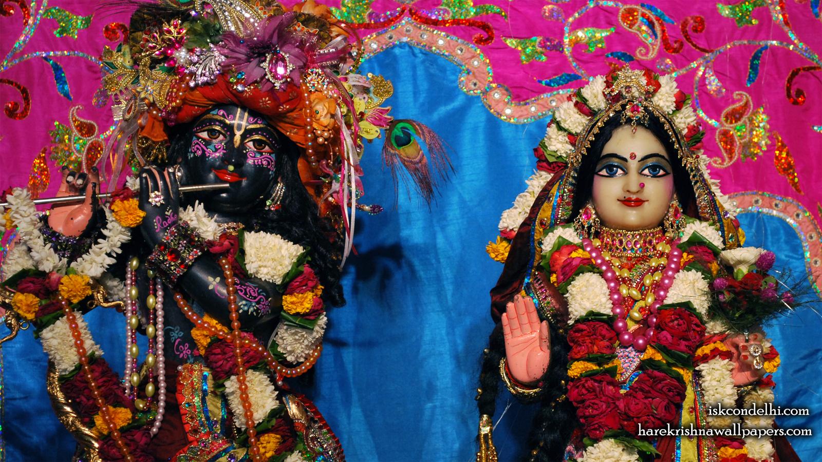 Sri Sri Radha Parthasarathi Close up Wallpaper (009) Size 1600x900 Download