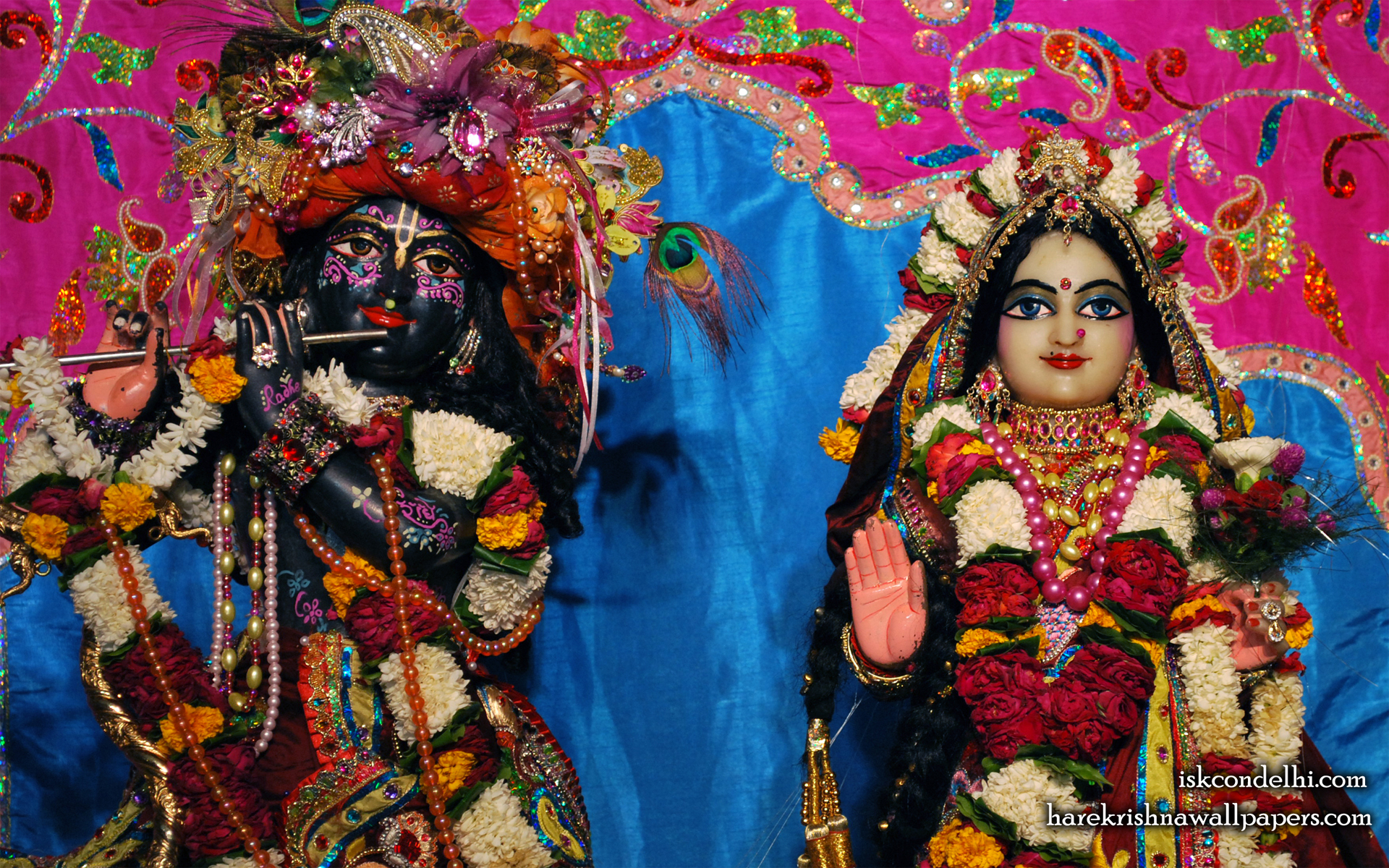 Sri Sri Radha Parthasarathi Close up Wallpaper (009) Size 1920x1200 Download