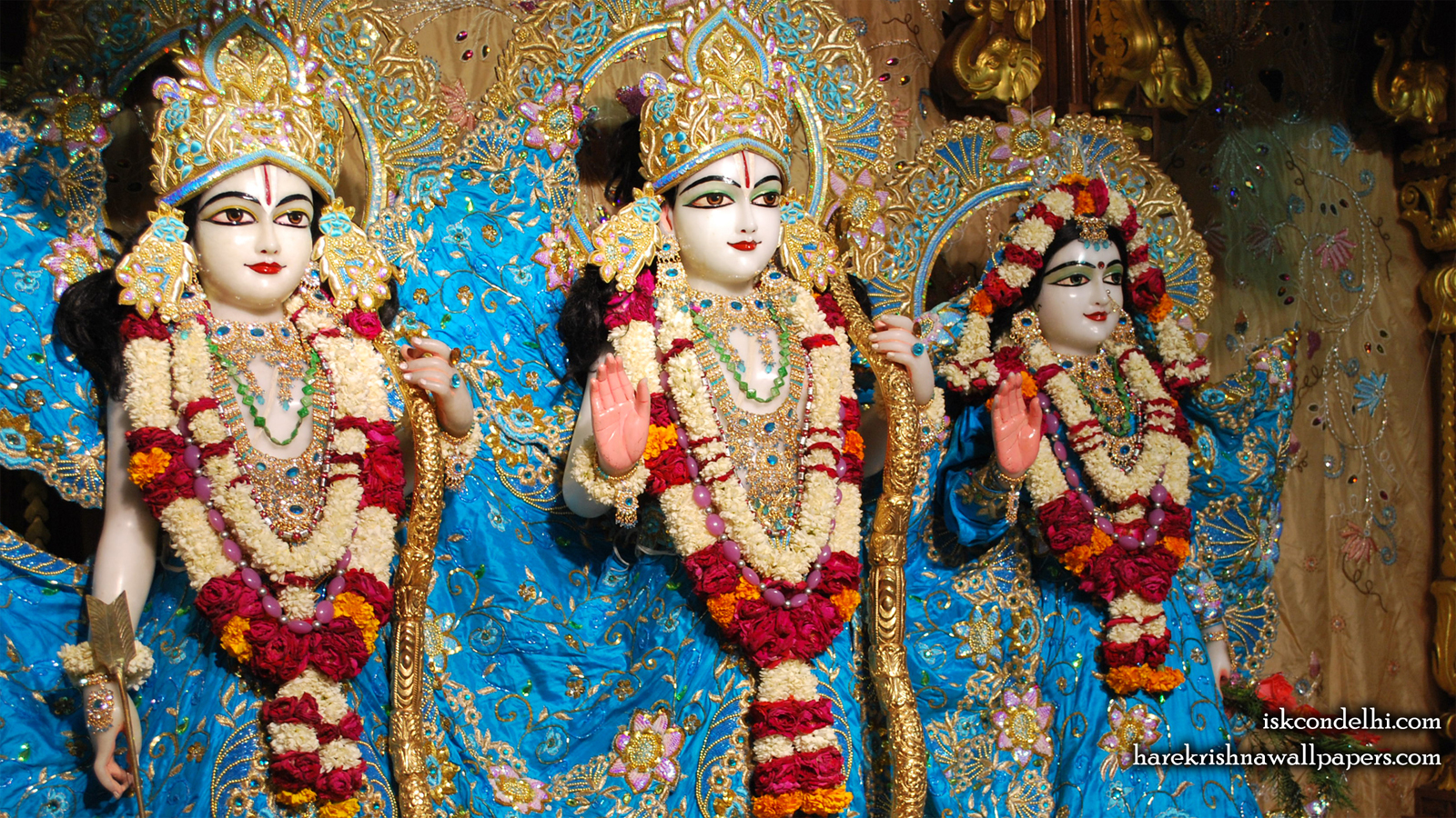 Sri Sri Sita Rama Laxman Wallpaper (009) Size 1600x900 Download