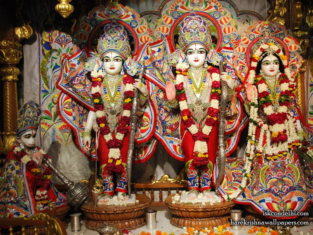 Sri Sri Sita Rama Laxman Hanuman Wallpaper (009) Size 1024x768 Download