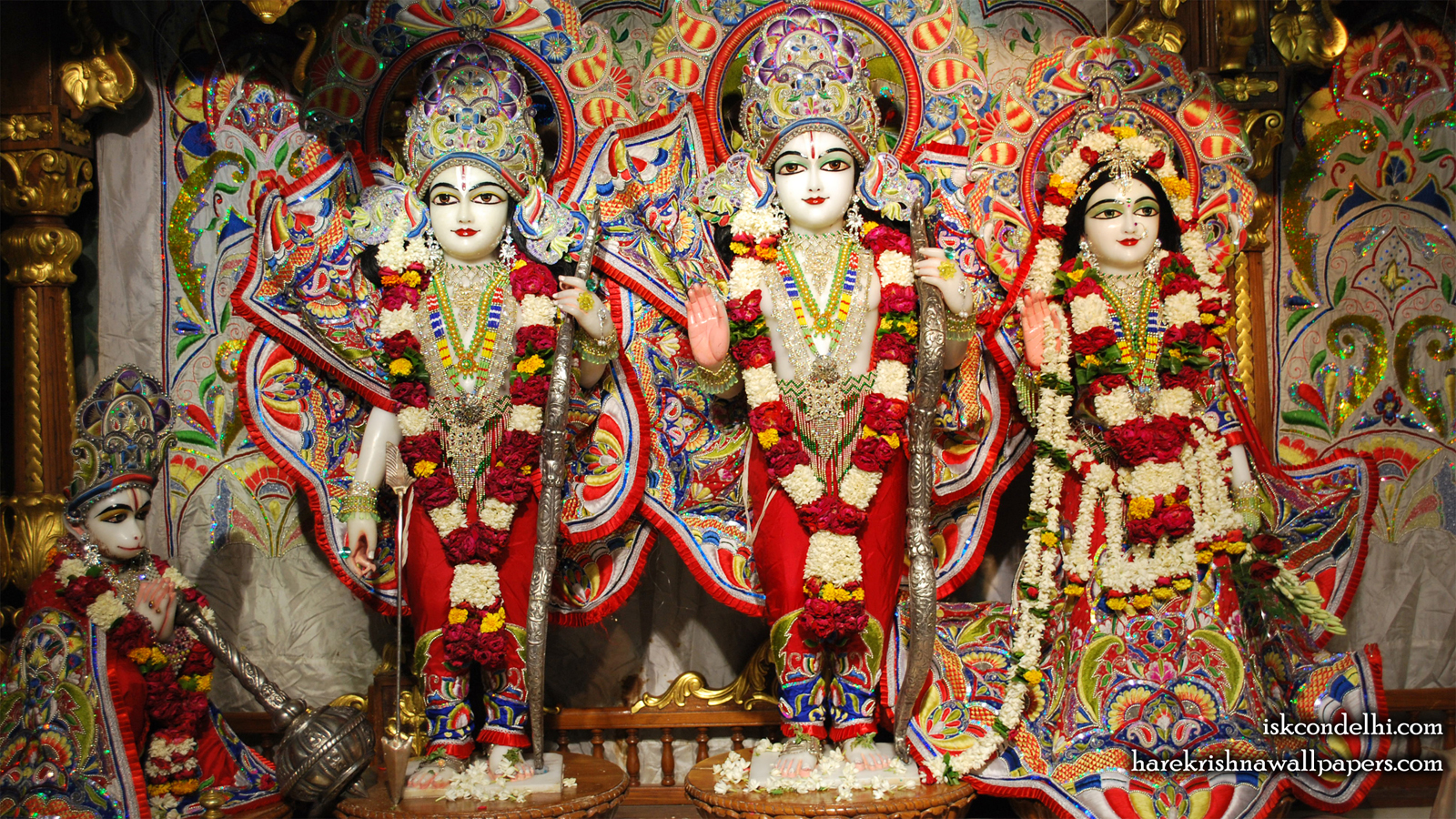 Sri Sri Sita Rama Laxman Hanuman Wallpaper (009) Size 1600x900 Download