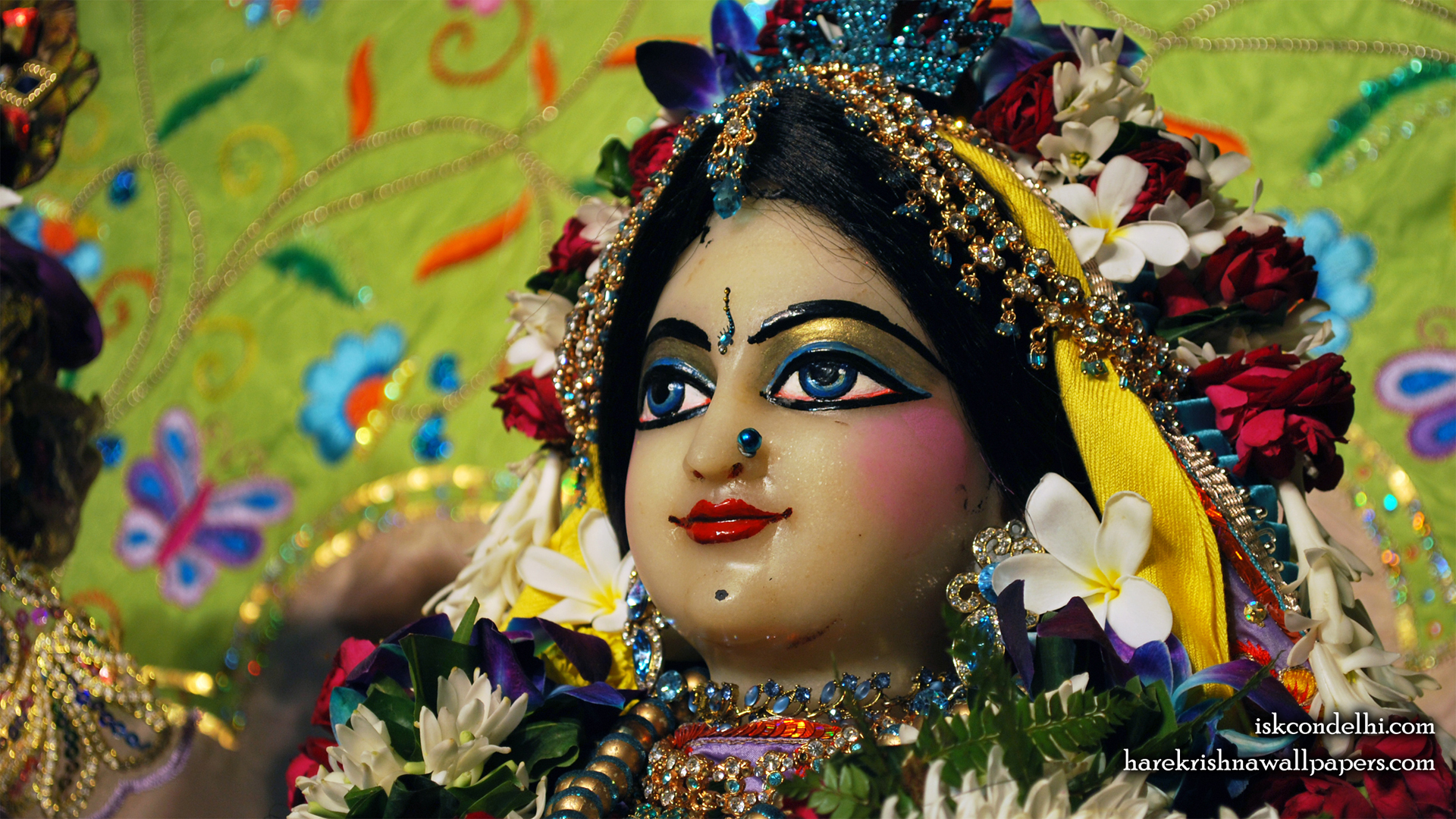 Sri Radha Close up Wallpaper (010) Size 1920x1080 Download