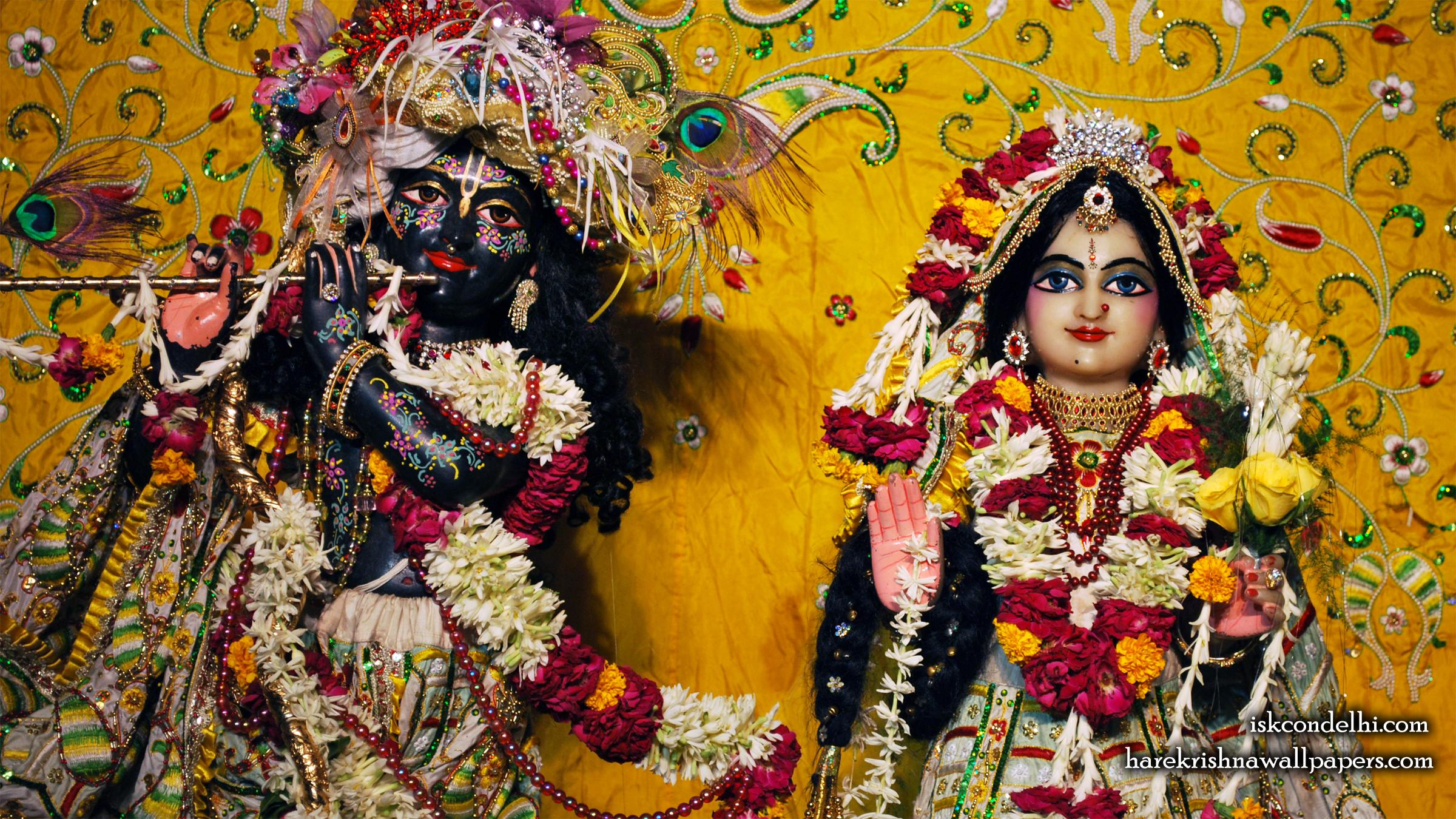 Sri Sri Radha Parthasarathi Close up Wallpaper (010) Size 2400x1350 Download