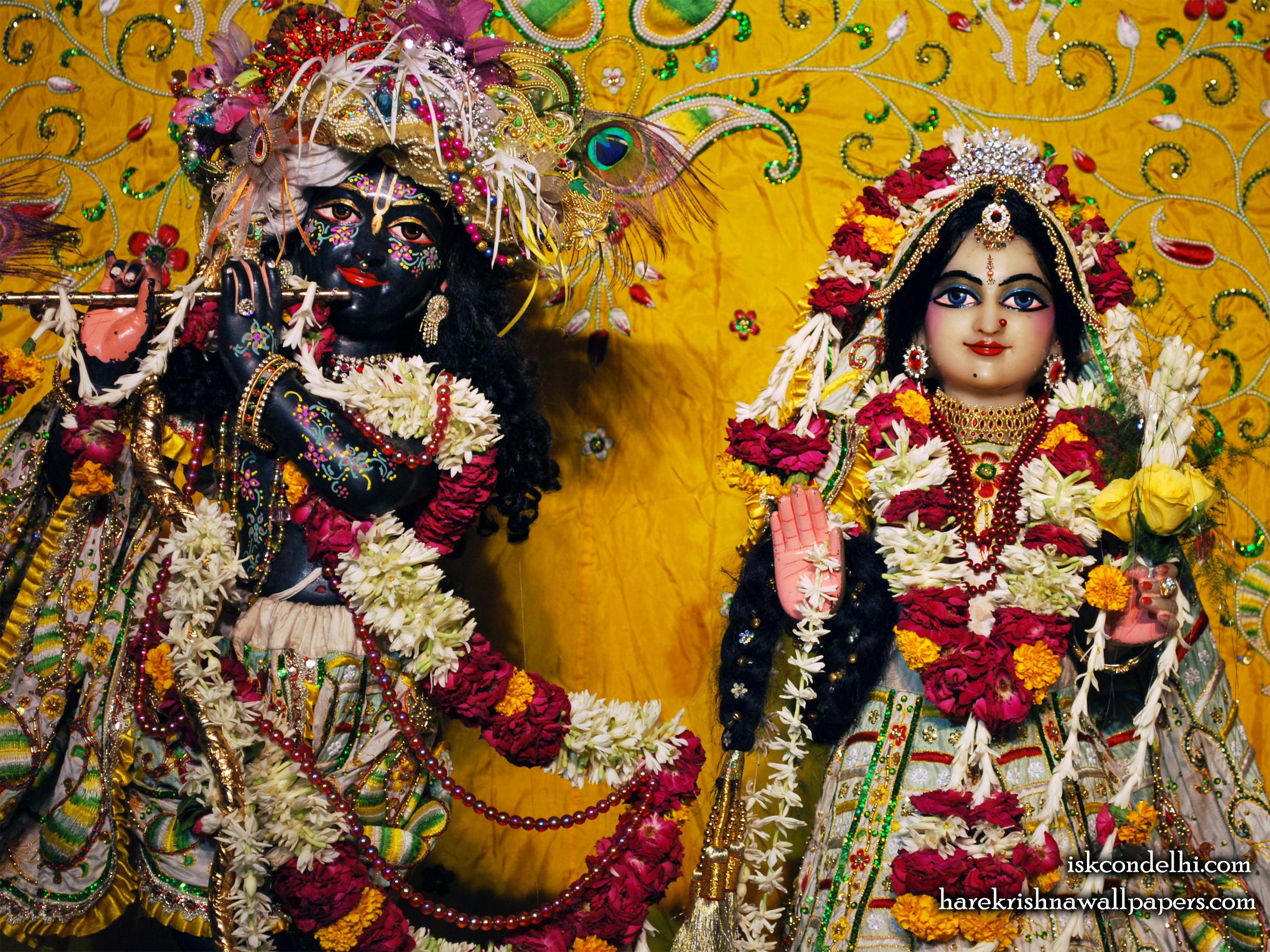 Sri Sri Radha Parthasarathi Close up Wallpaper (010) Size 2400x1800 Download