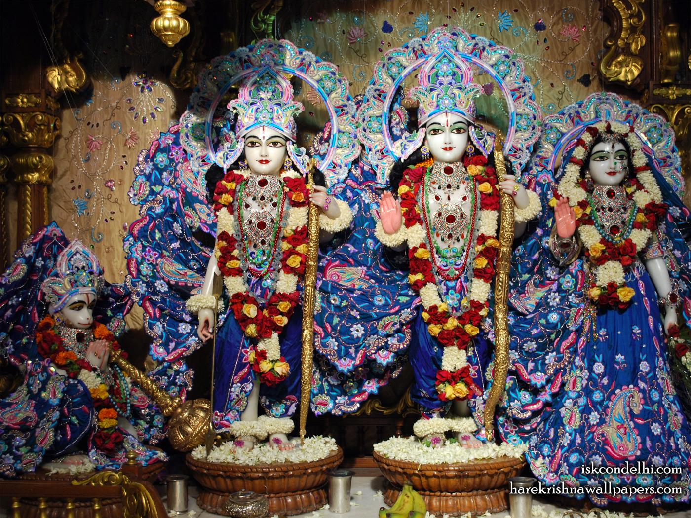 Sri Sri Sita Rama Laxman Hanuman Wallpaper (010) Size 1400x1050 Download
