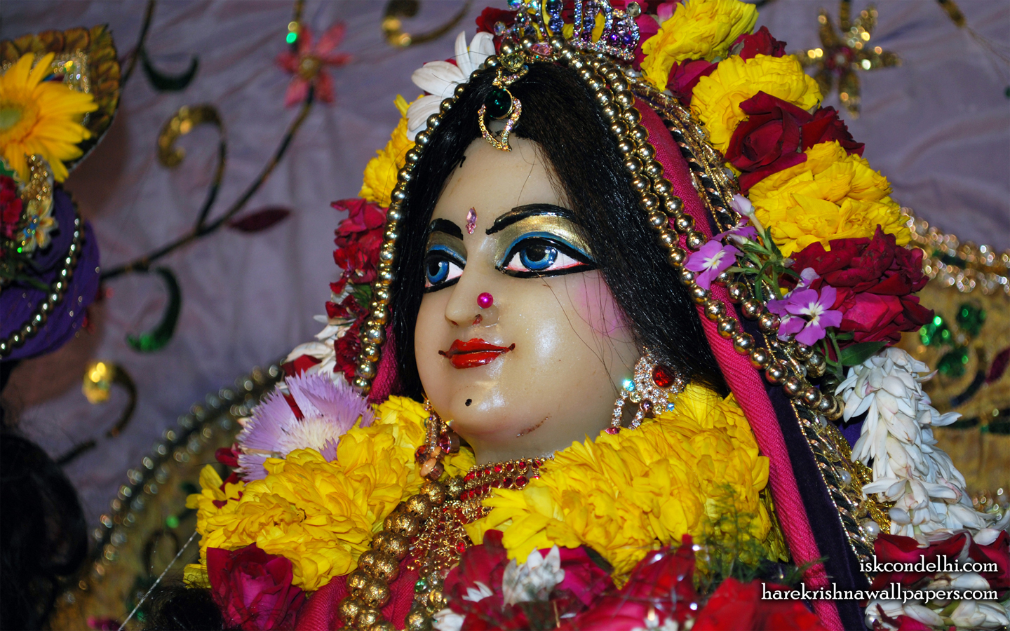 Sri Radha Close up Wallpaper (011) Size 1440x900 Download