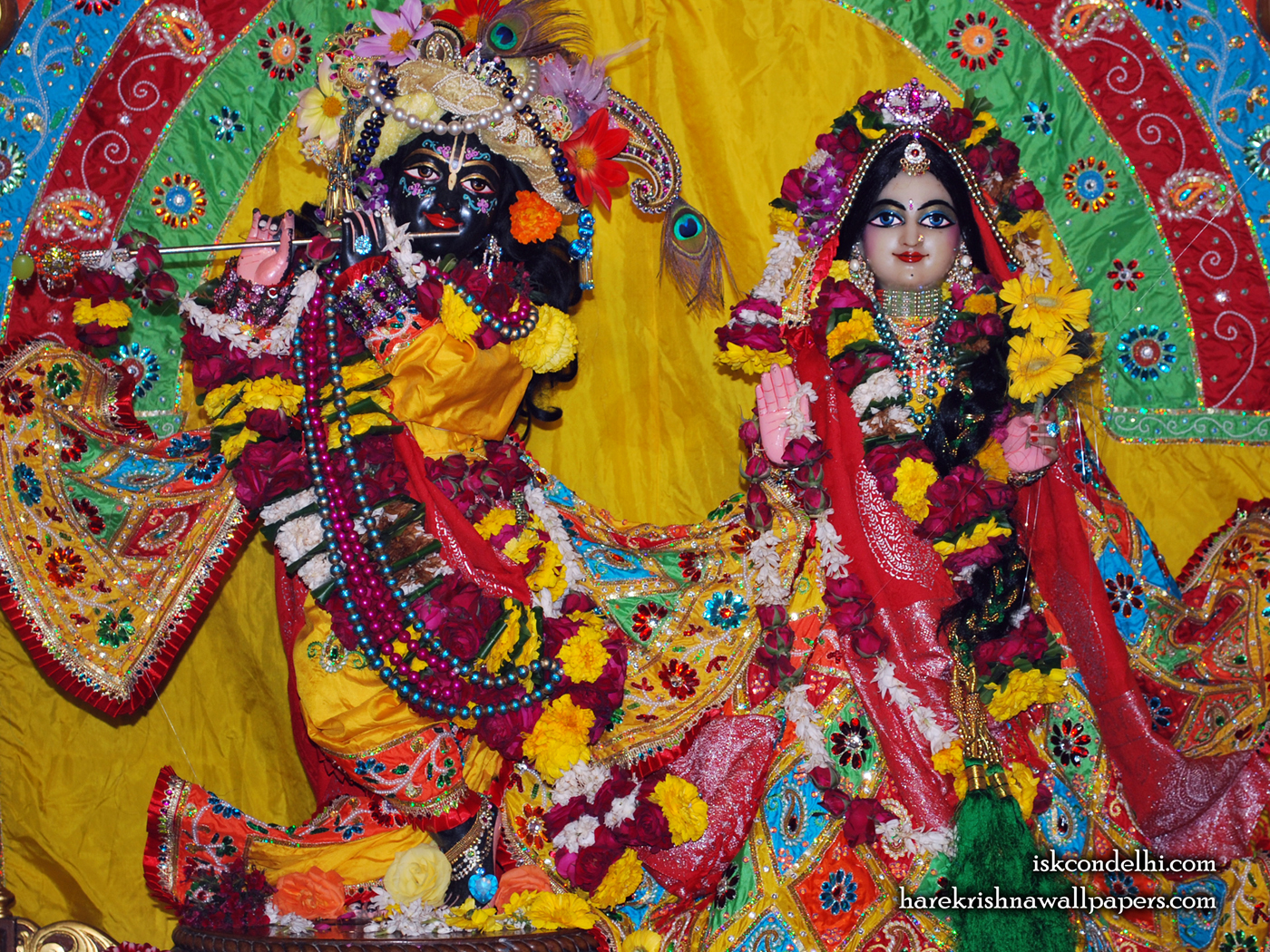 Sri Sri Radha Parthasarathi Wallpaper (011) Size 1400x1050 Download