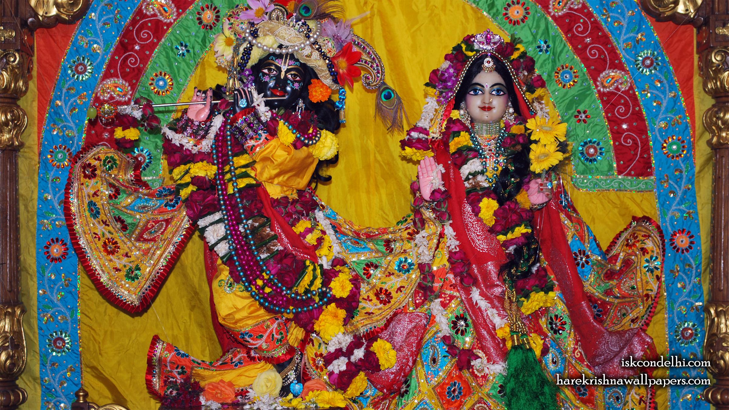 Sri Sri Radha Parthasarathi Wallpaper (011) Size 2400x1350 Download