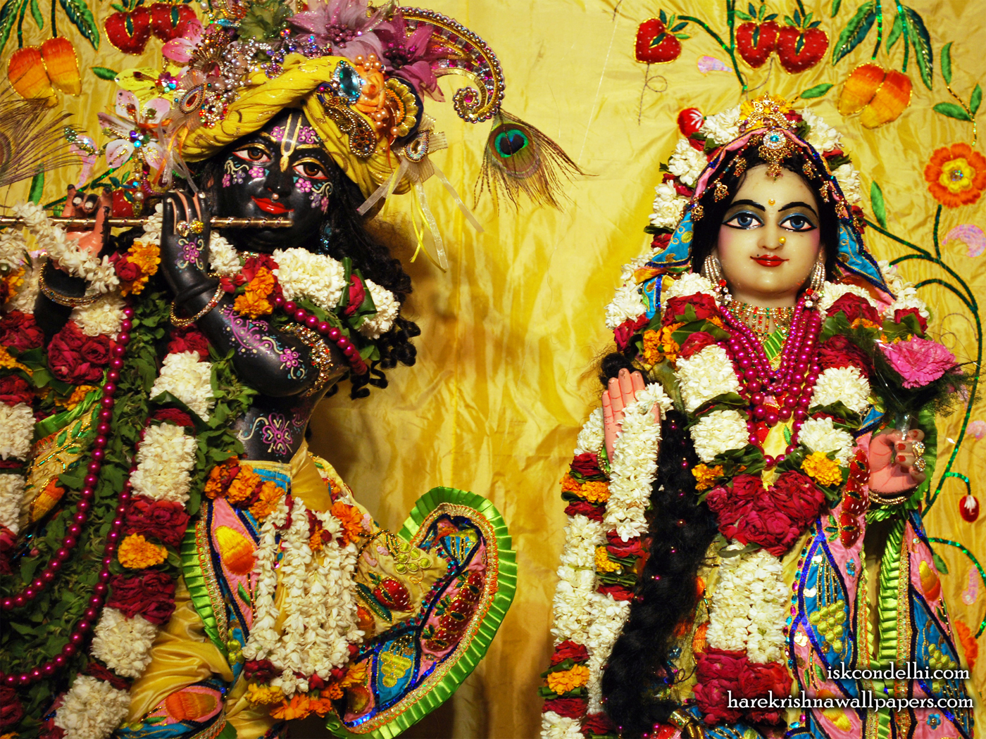 Sri Sri Radha Parthasarathi Close up Wallpaper (011) Size 1400x1050 Download