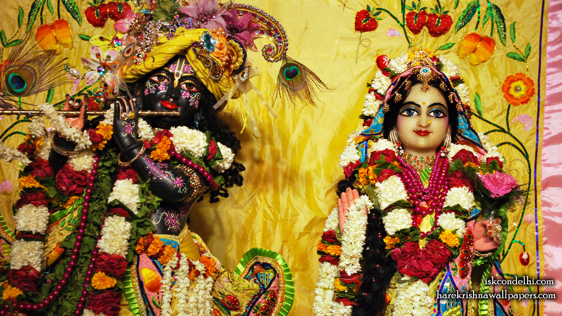 Sri Sri Radha Parthasarathi Close up Wallpaper (011) Size 1920x1080 Download