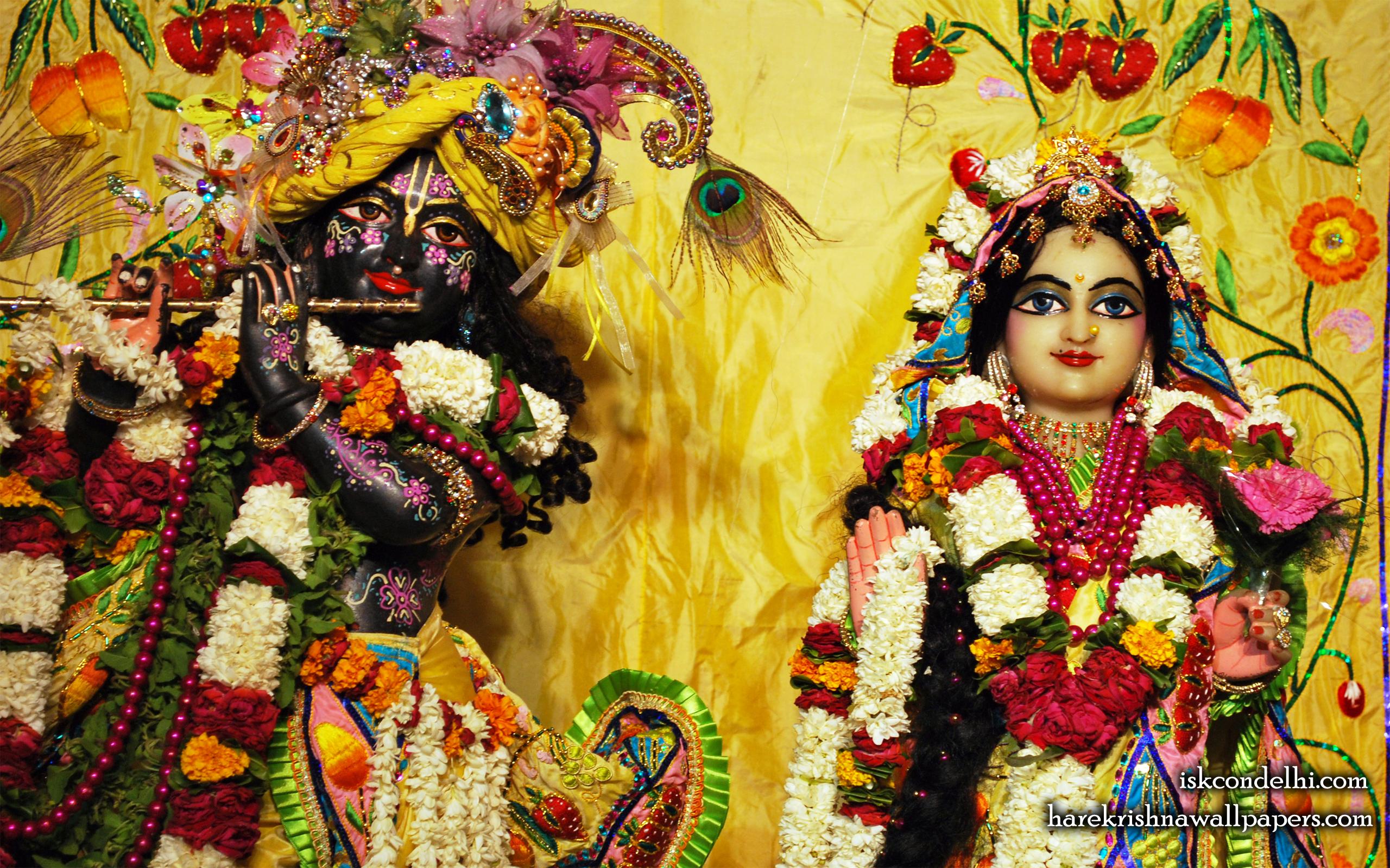 Sri Sri Radha Parthasarathi Close up Wallpaper (011) Size 2560x1600 Download