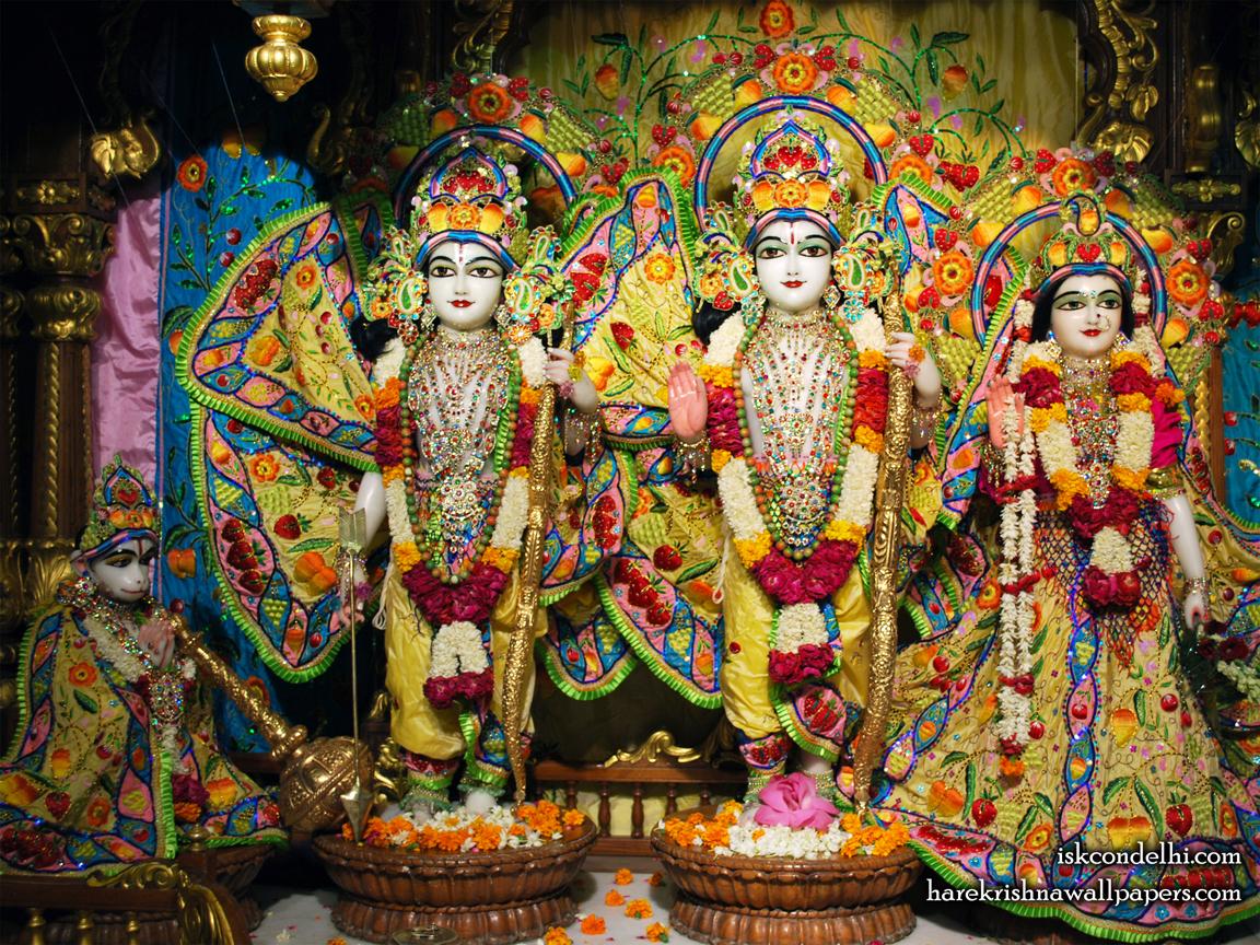 Sri Sri Sita Rama Laxman Hanuman Wallpaper (011) Size 1152x864 Download