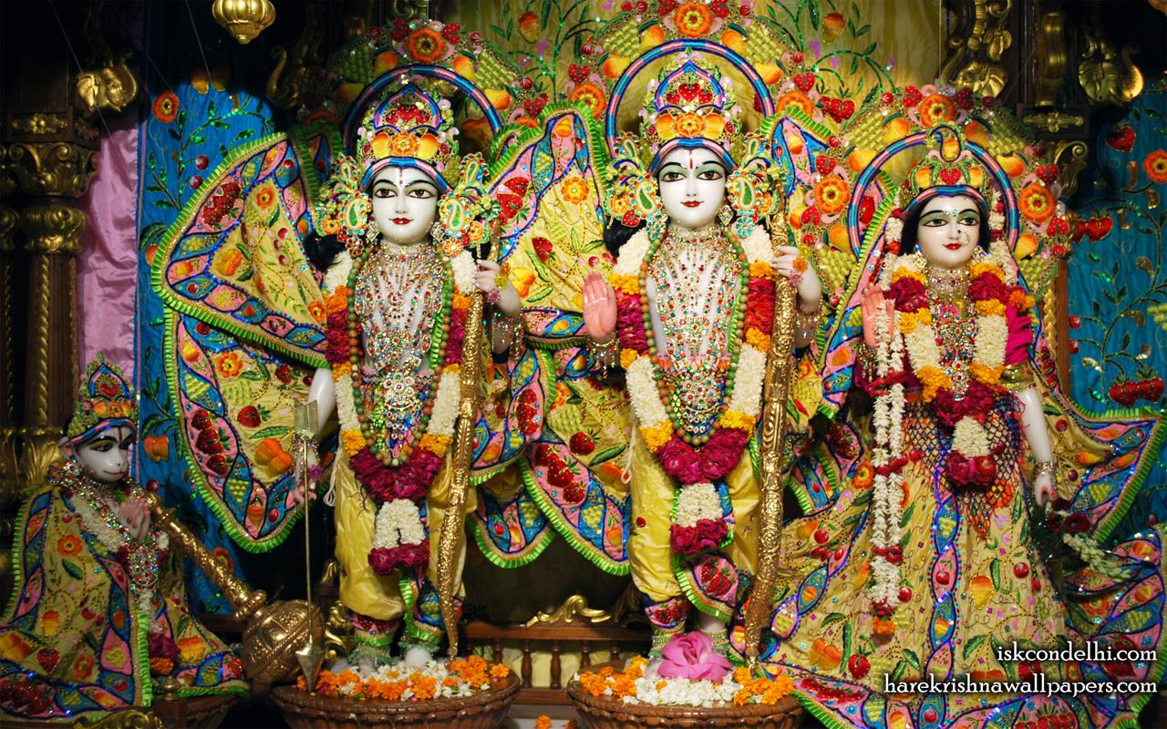Sri Sri Sita Rama Laxman Hanuman Wallpaper (011) Size 1280x800 Download