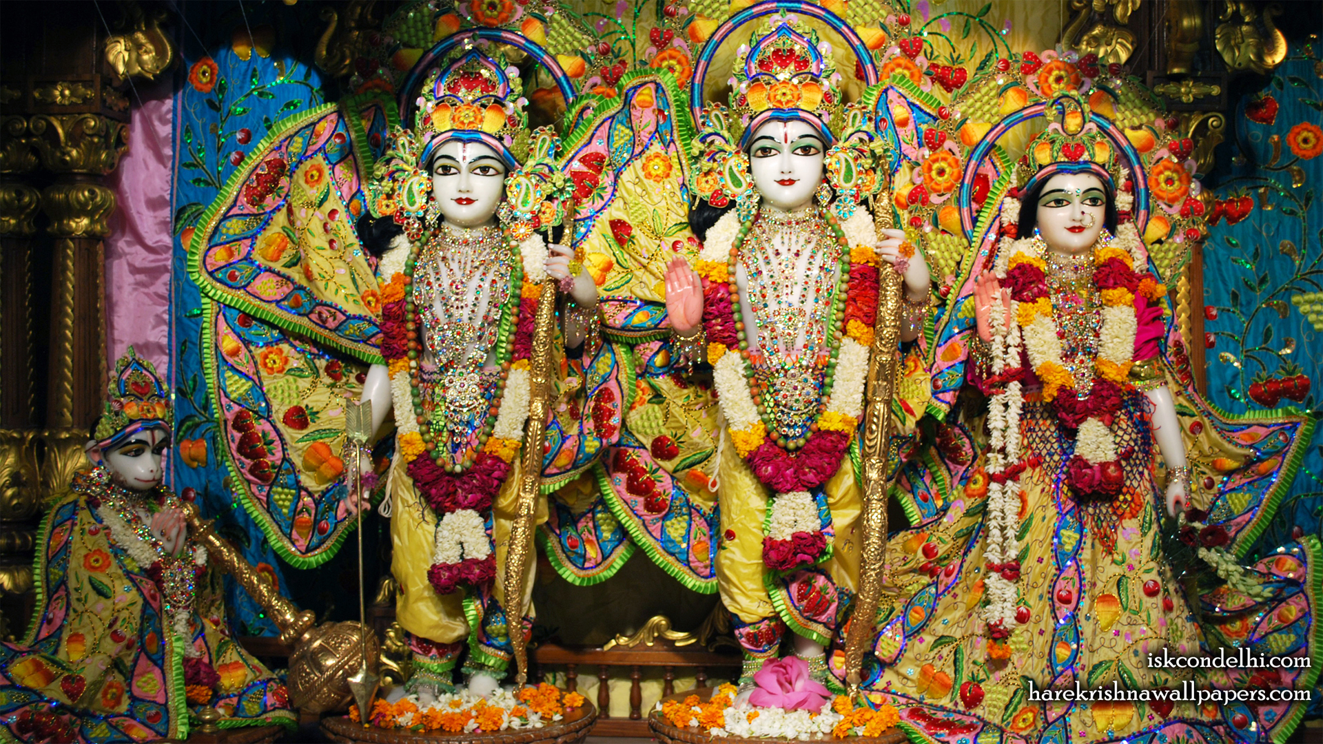 Sri Sri Sita Rama Laxman Hanuman Wallpaper (011) Size 1920x1080 Download