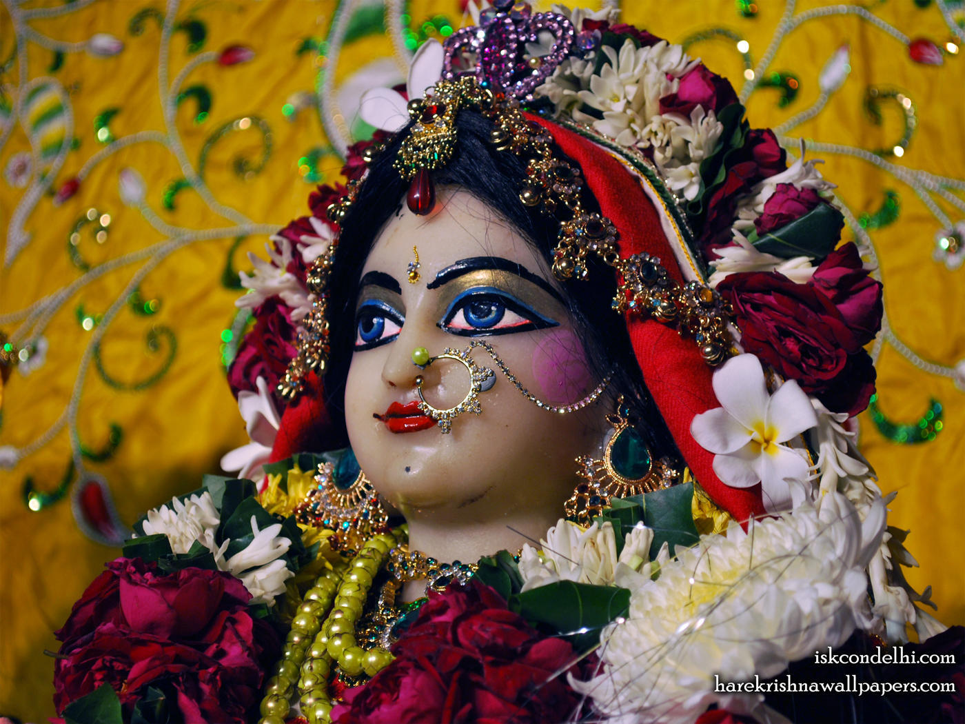 Sri Radha Close up Wallpaper (012) Size 1400x1050 Download
