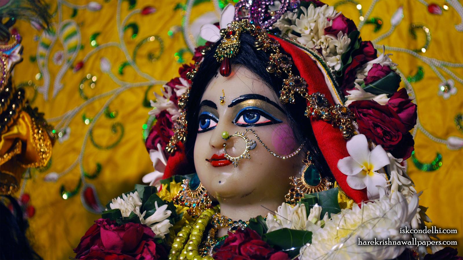 Sri Radha Close up Wallpaper (012) Size 1600x900 Download