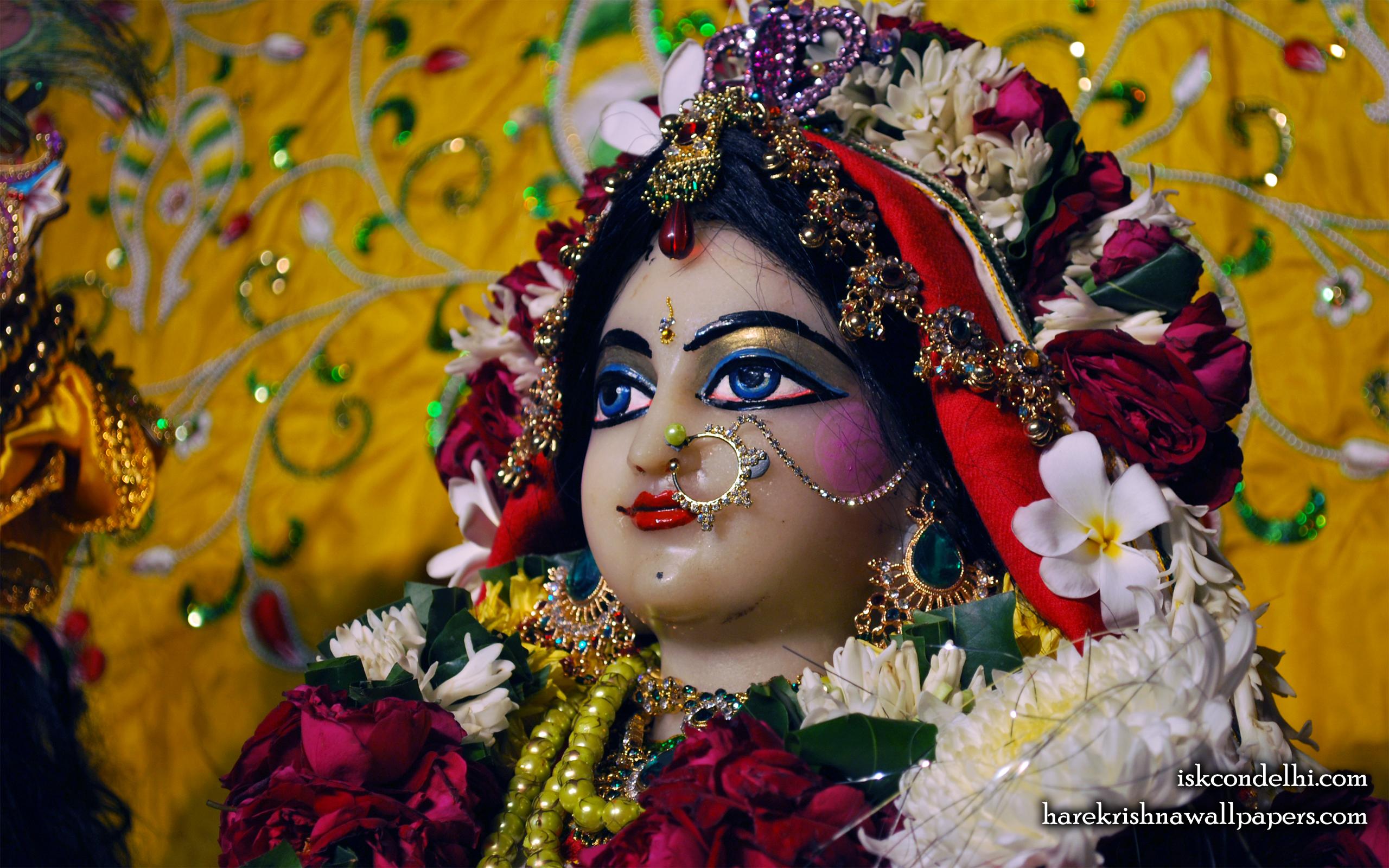 Sri Radha Close up Wallpaper (012) Size 2560x1600 Download