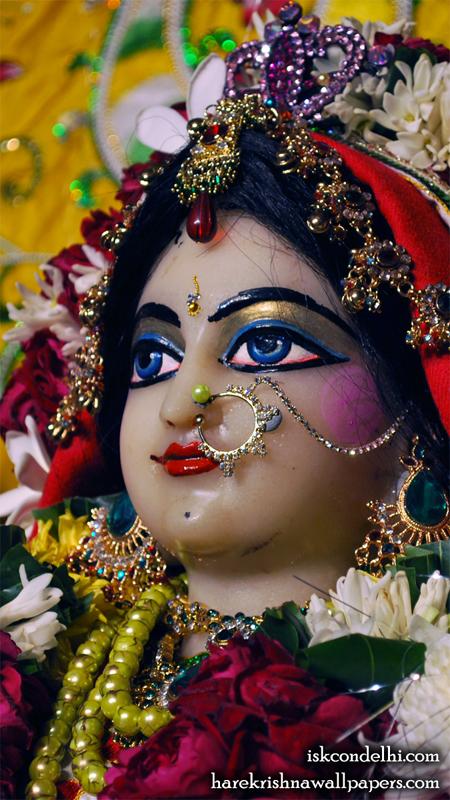 Sri Radha Close up Wallpaper (012) Size 450x800 Download