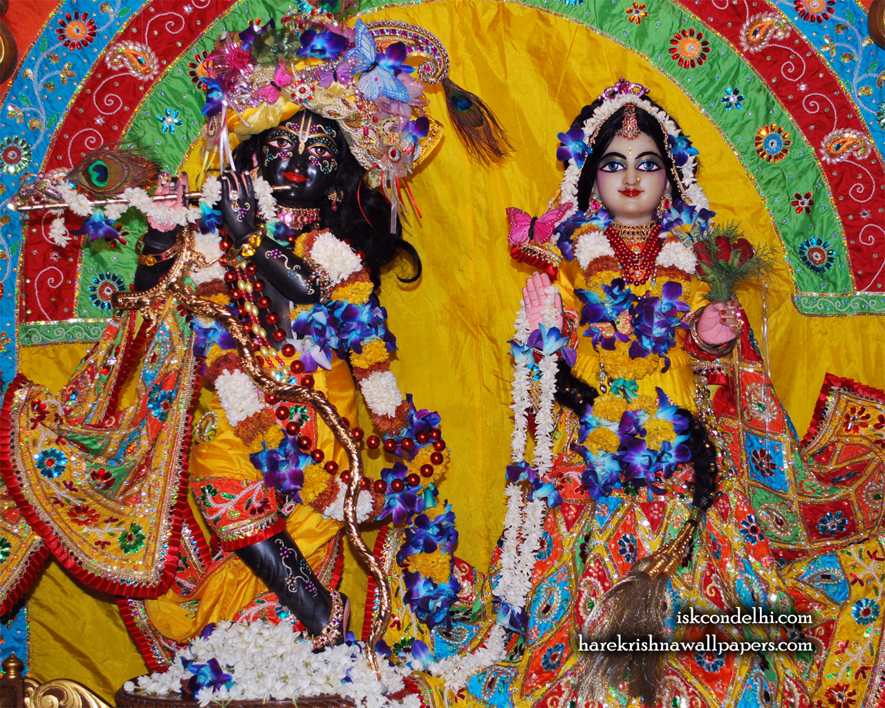 Sri Sri Radha Parthasarathi Wallpaper (012) Size 1280x1024 Download