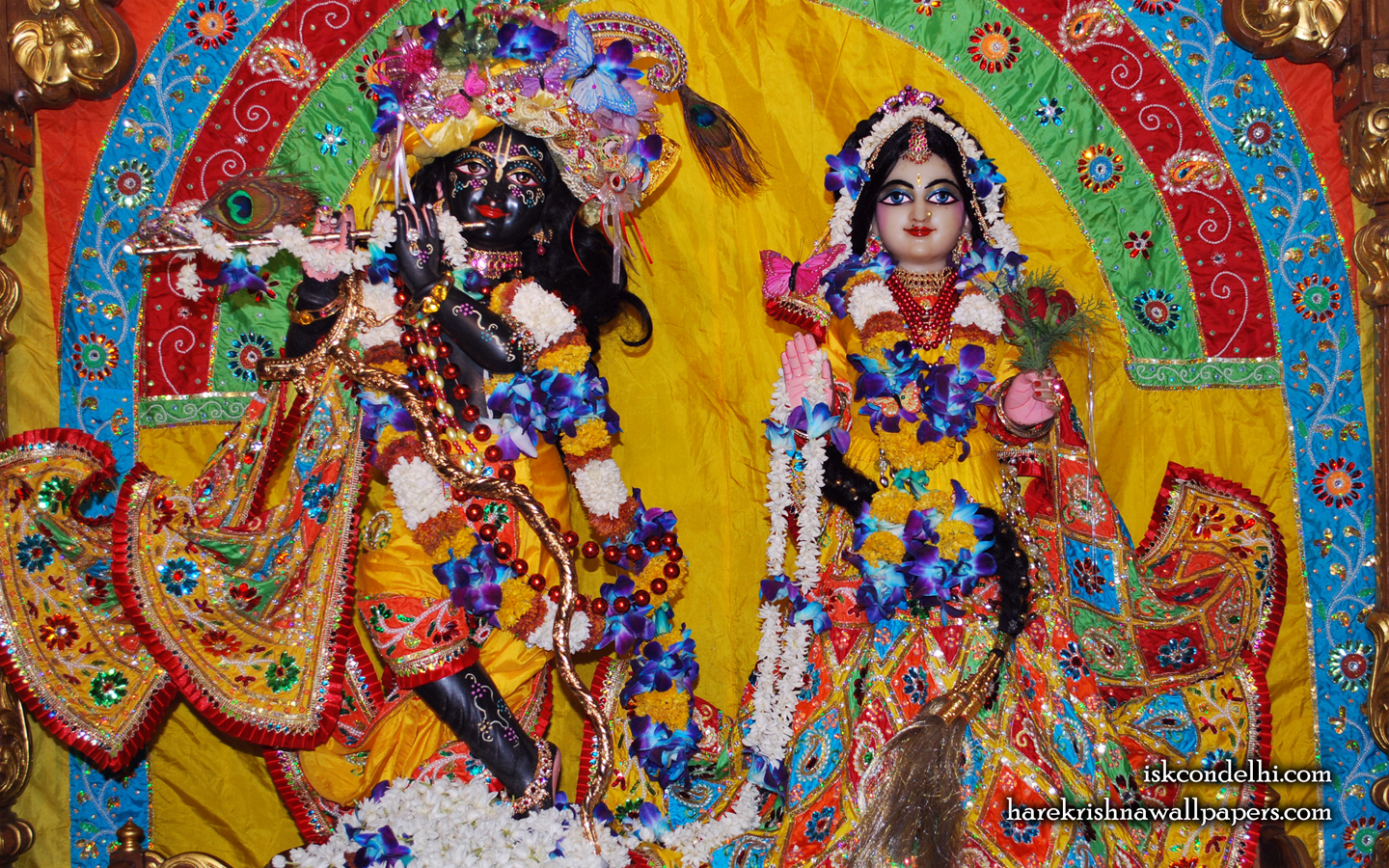 Sri Sri Radha Parthasarathi Wallpaper (012) Size 1440x900 Download