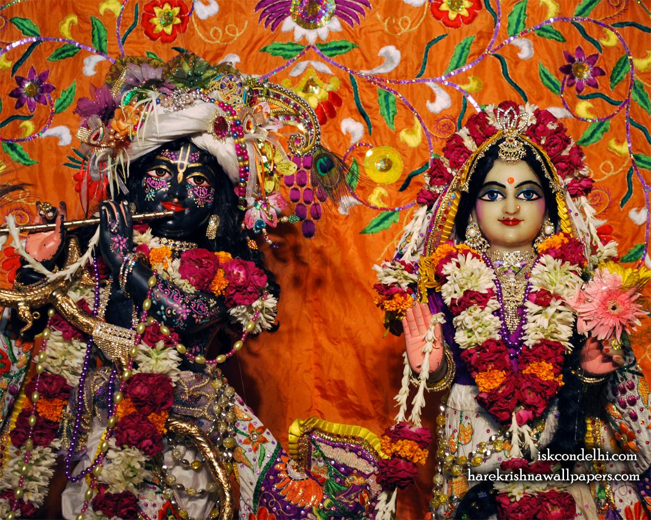 Sri Sri Radha Parthasarathi Close up Wallpaper (012) Size 1280x1024 Download