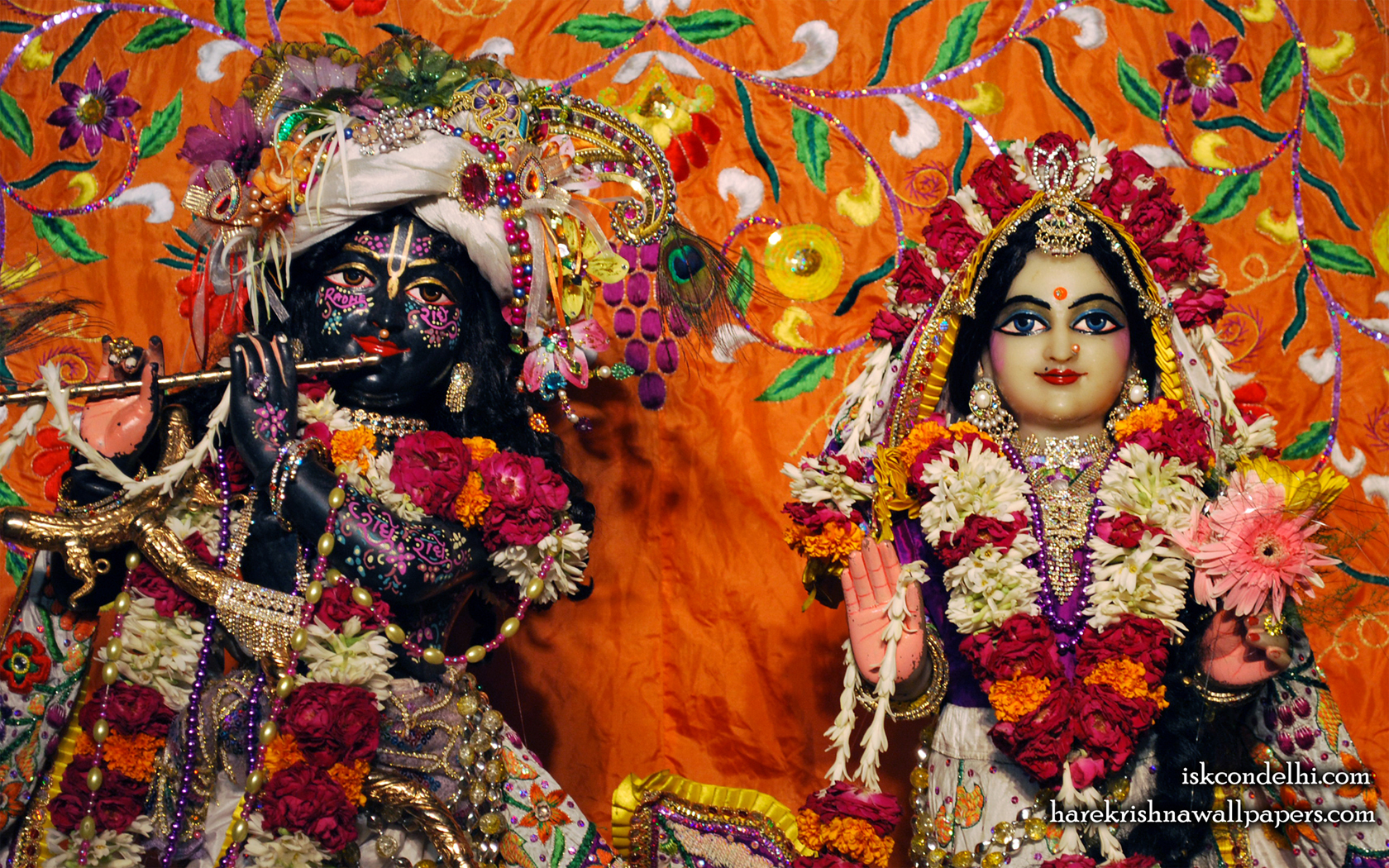 Sri Sri Radha Parthasarathi Close up Wallpaper (012) Size 1680x1050 Download