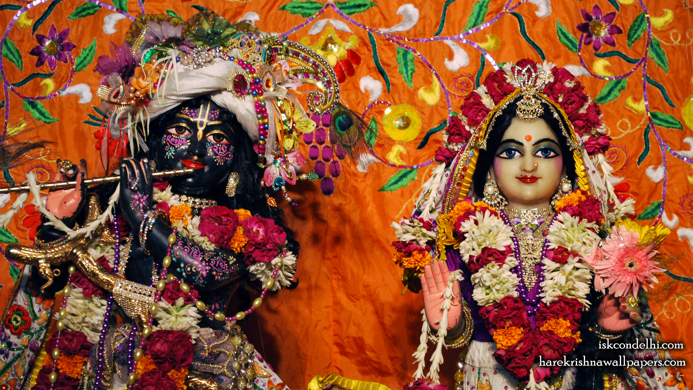 Sri Sri Radha Parthasarathi Close up Wallpaper (012) Size 2400x1350 Download