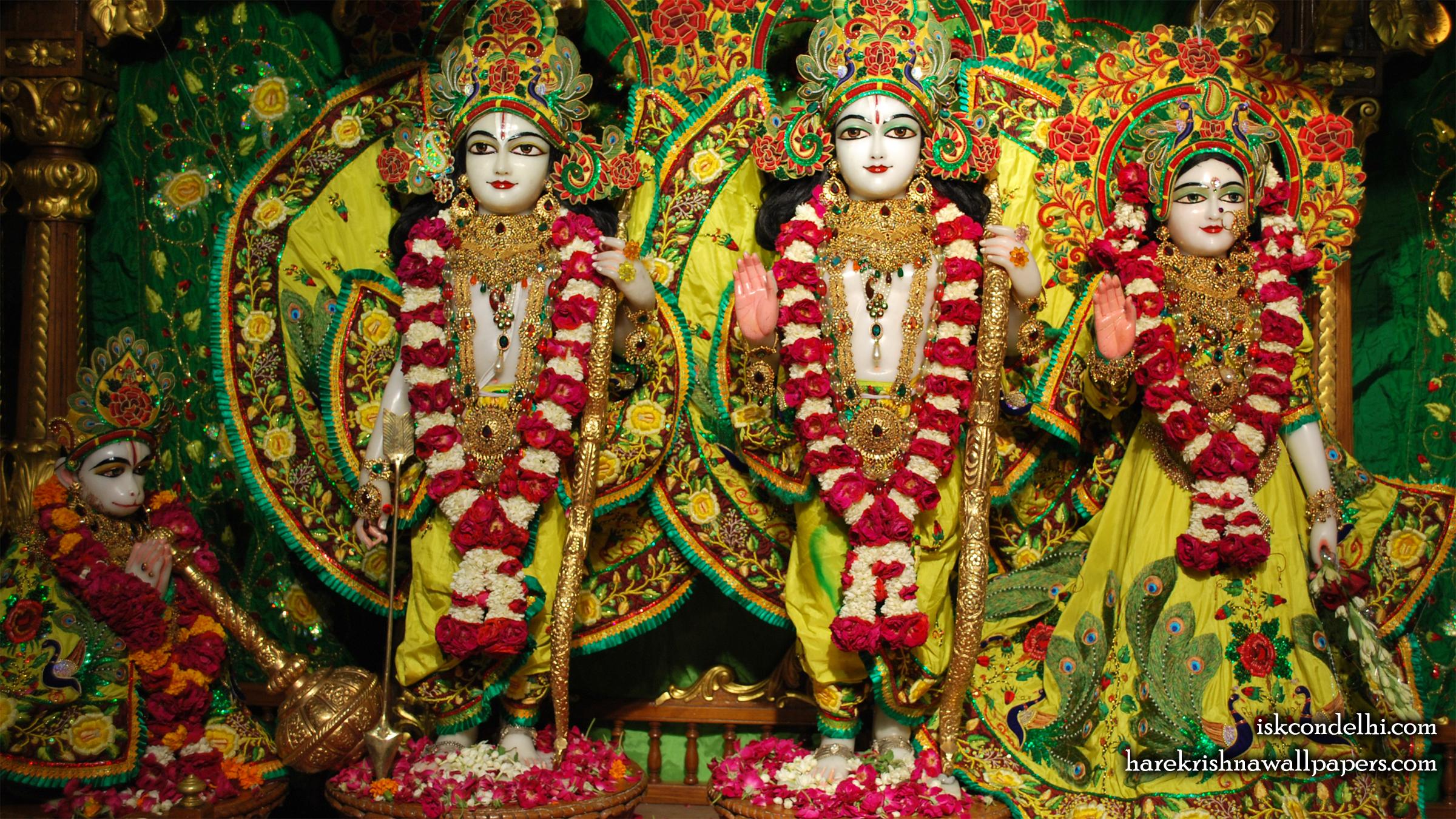 Sri Sri Sita Rama Laxman Hanuman Wallpaper (012) Size 2400x1350 Download