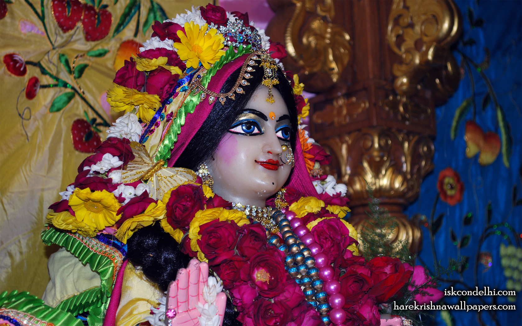 Sri Radha Close up Wallpaper (013) Size 1680x1050 Download