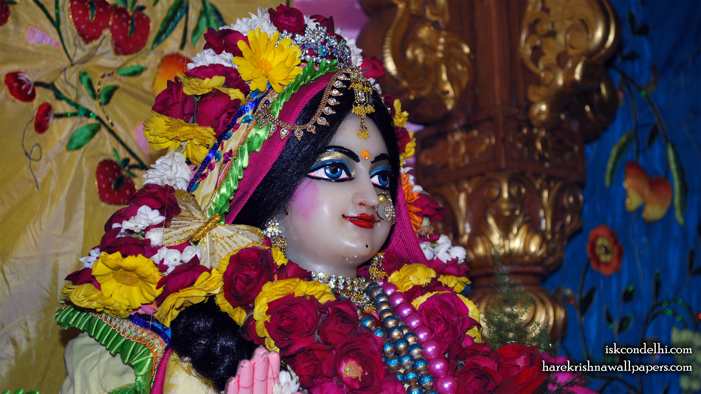 Sri Radha Close up Wallpaper (013) Size 2400x1350 Download
