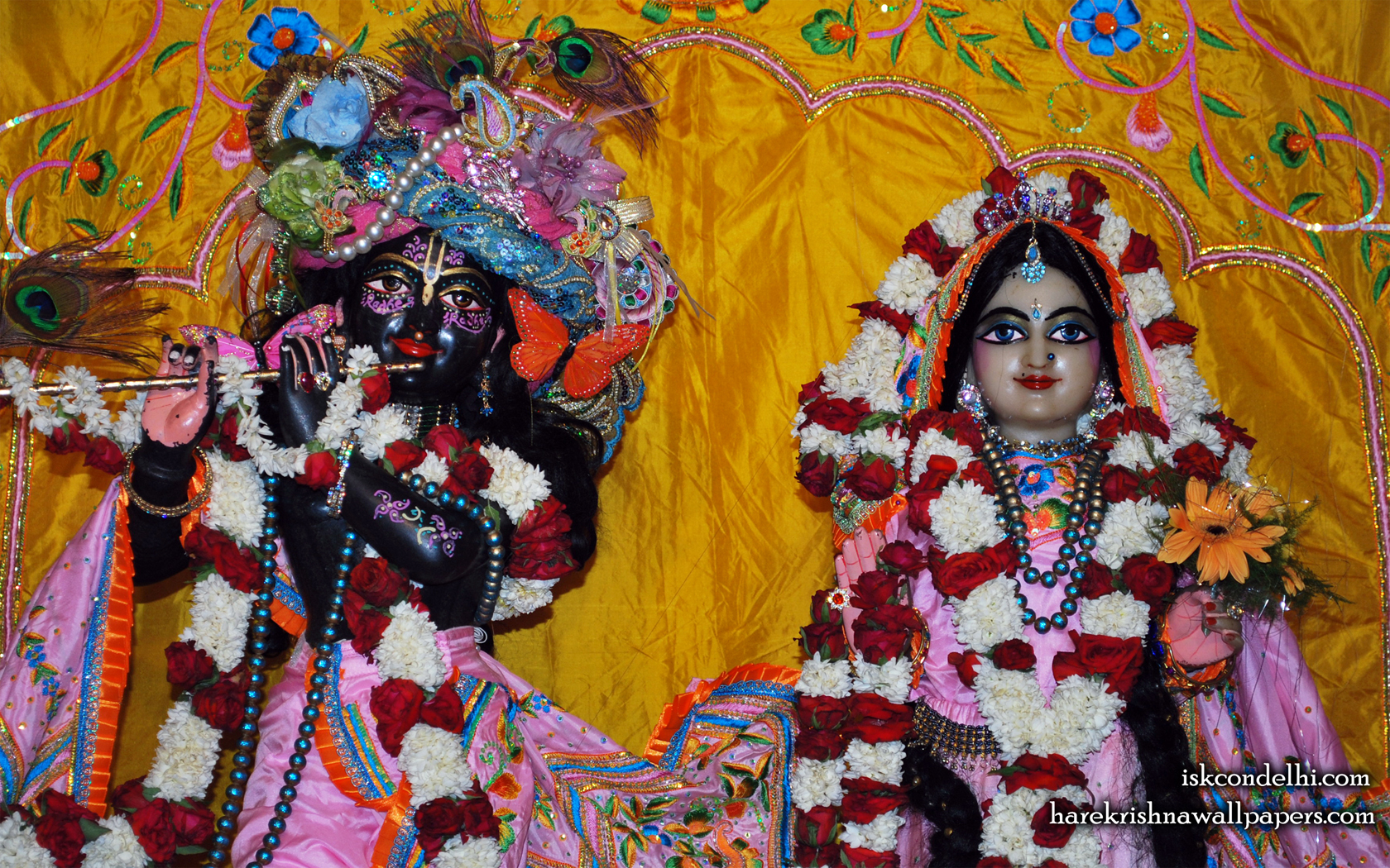 Sri Sri Radha Parthasarathi Close up Wallpaper (013) Size 1680x1050 Download