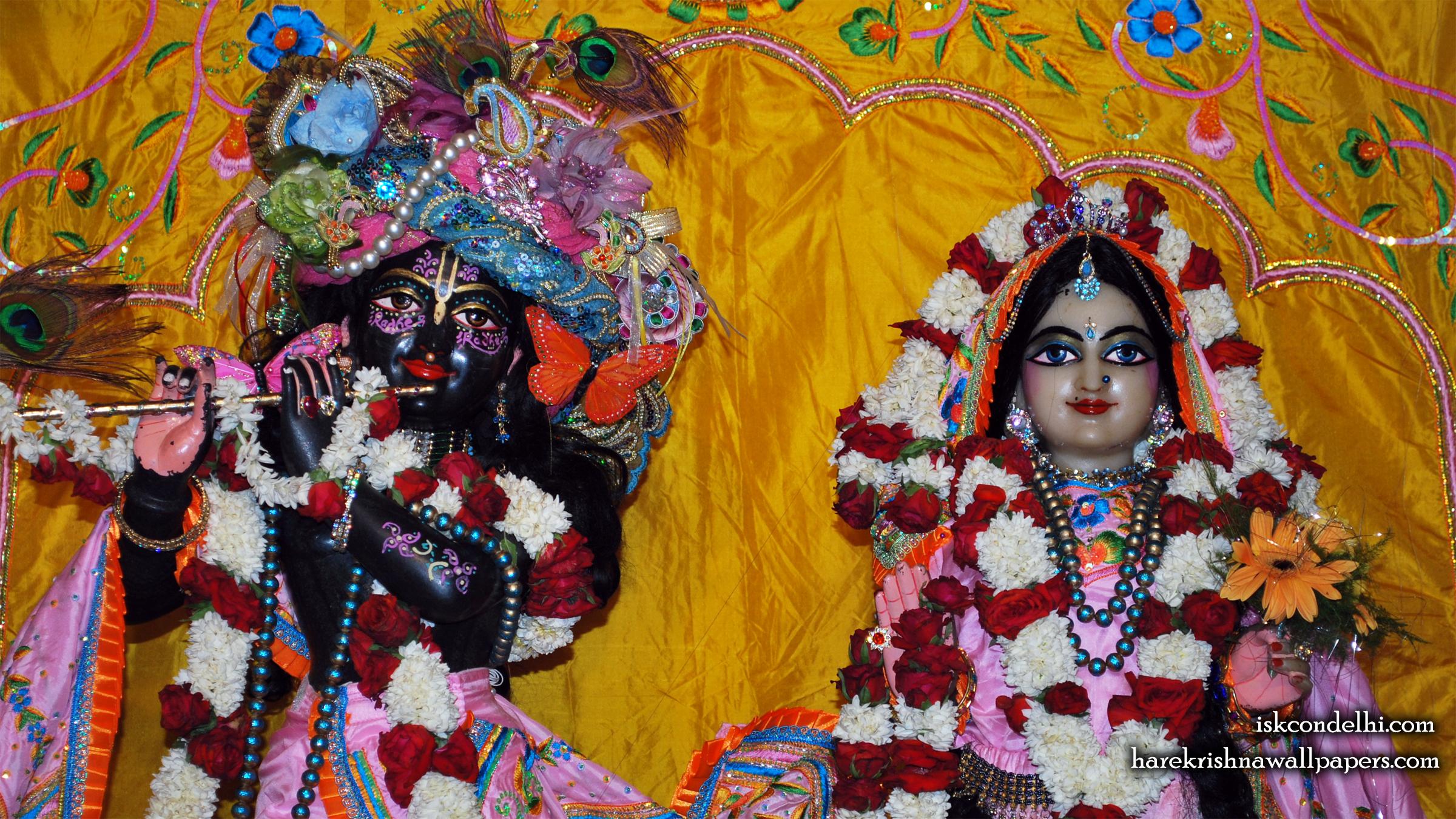 Sri Sri Radha Parthasarathi Close up Wallpaper (013) Size 2400x1350 Download