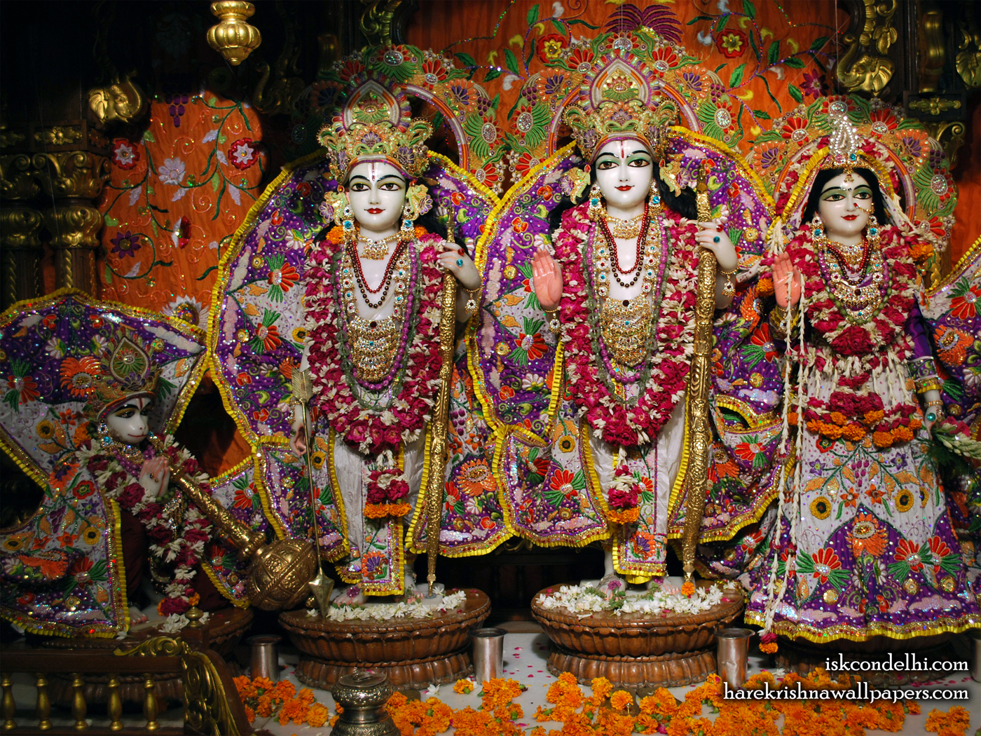Sri Sri Sita Rama Laxman Hanuman Wallpaper (013) Size 1400x1050 Download