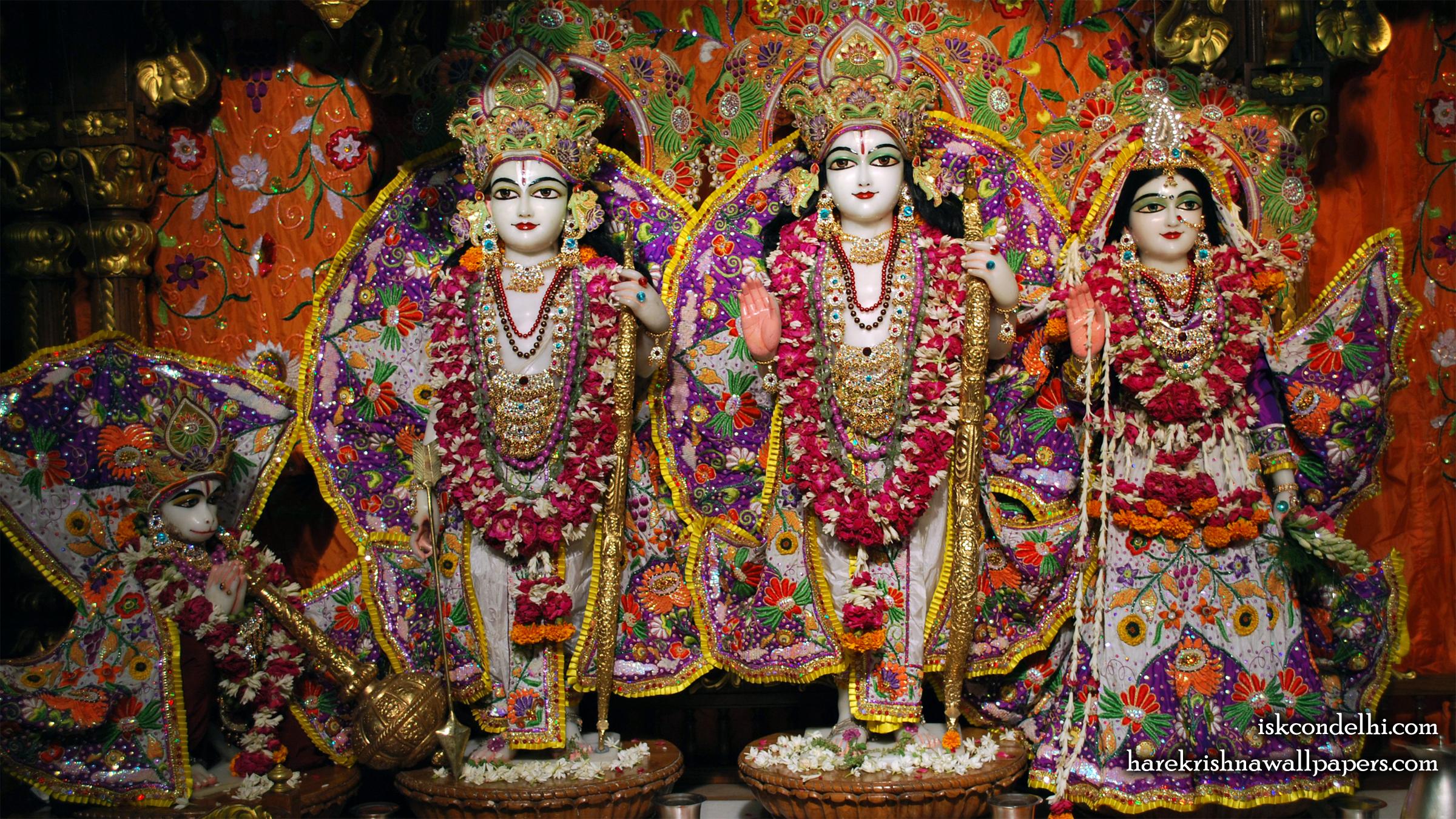 Sri Sri Sita Rama Laxman Hanuman Wallpaper (013) Size 2400x1350 Download