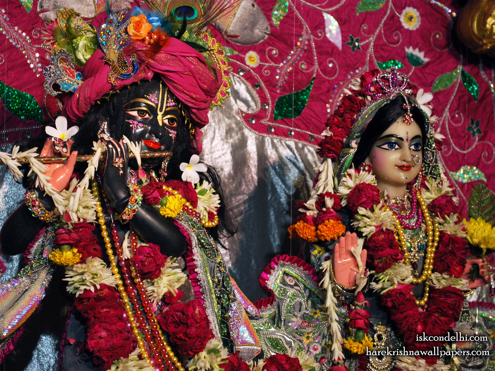 Sri Sri Radha Parthasarathi Close up Wallpaper (014) Size1600x1200 Download