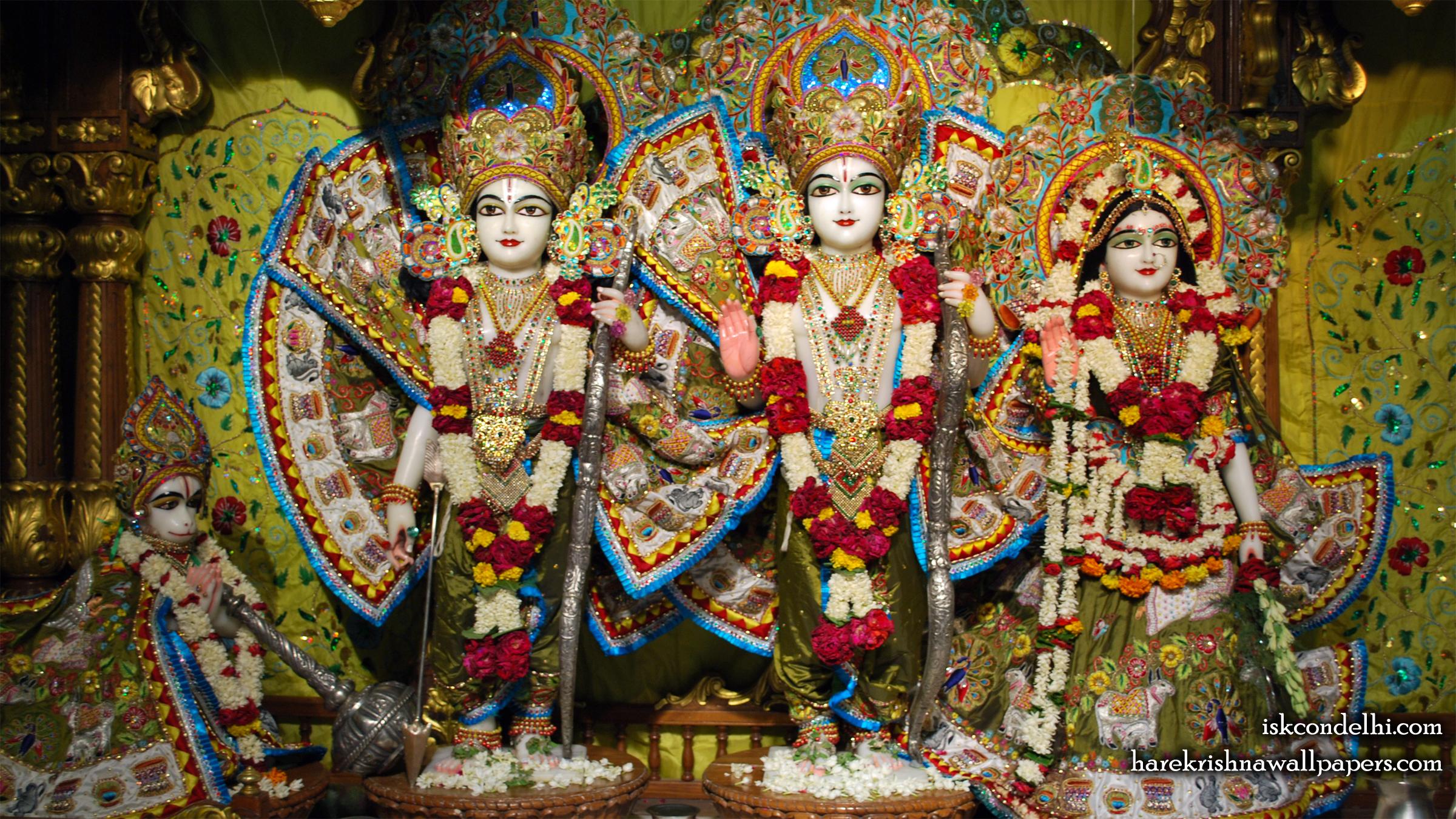 Sri Sri Sita Rama Laxman Hanuman Wallpaper (014) Size 2400x1350 Download