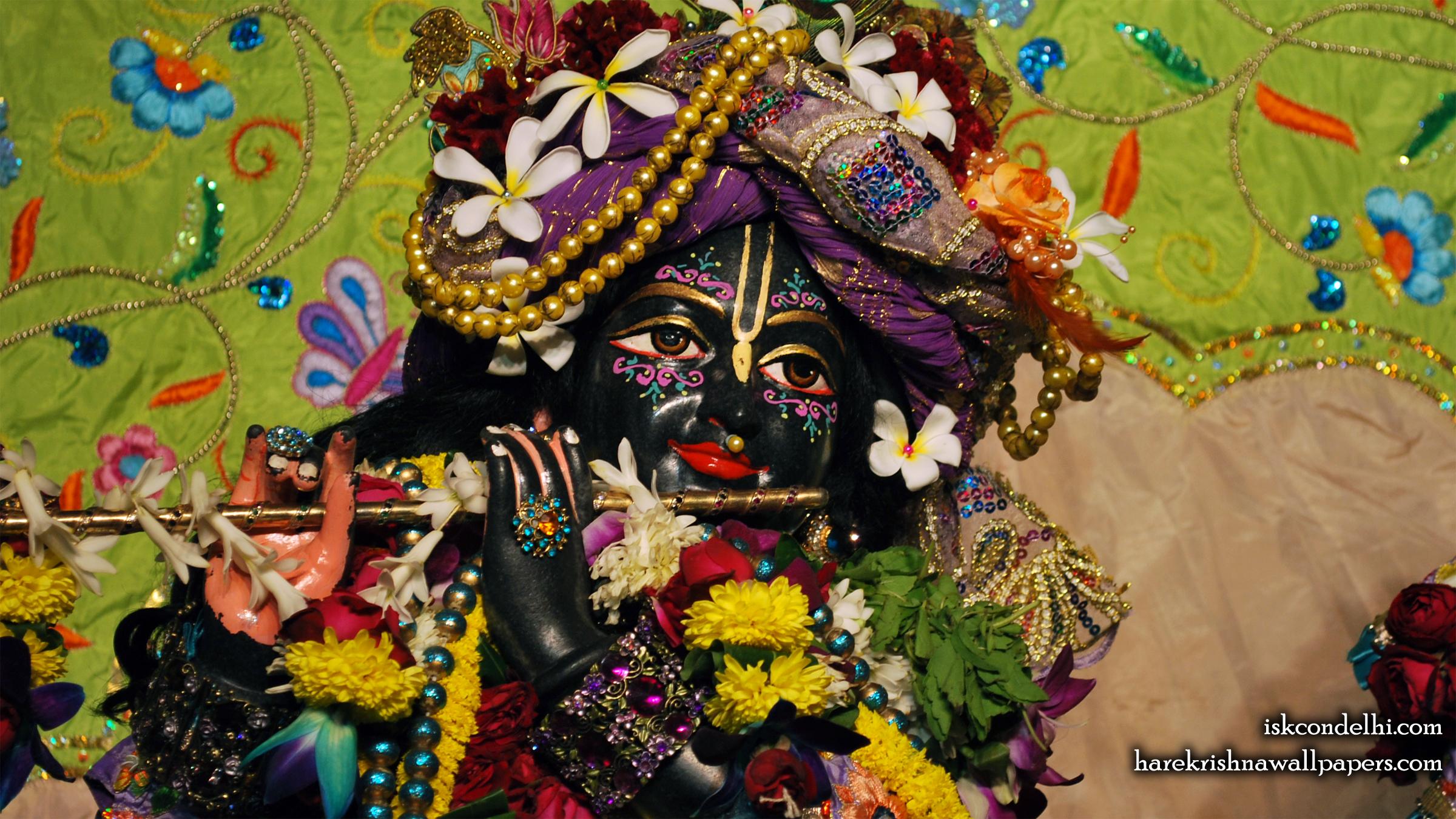 Sri Parthasarathi Close up Wallpaper (015) Size 2400x1350 Download