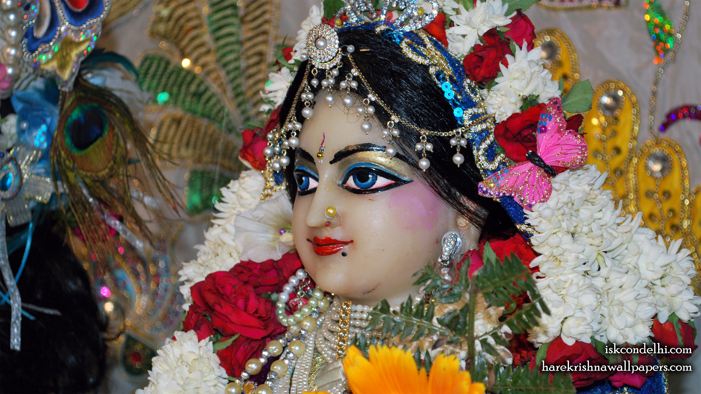 Sri Radha Close up Wallpaper (015) Size 2400x1350 Download
