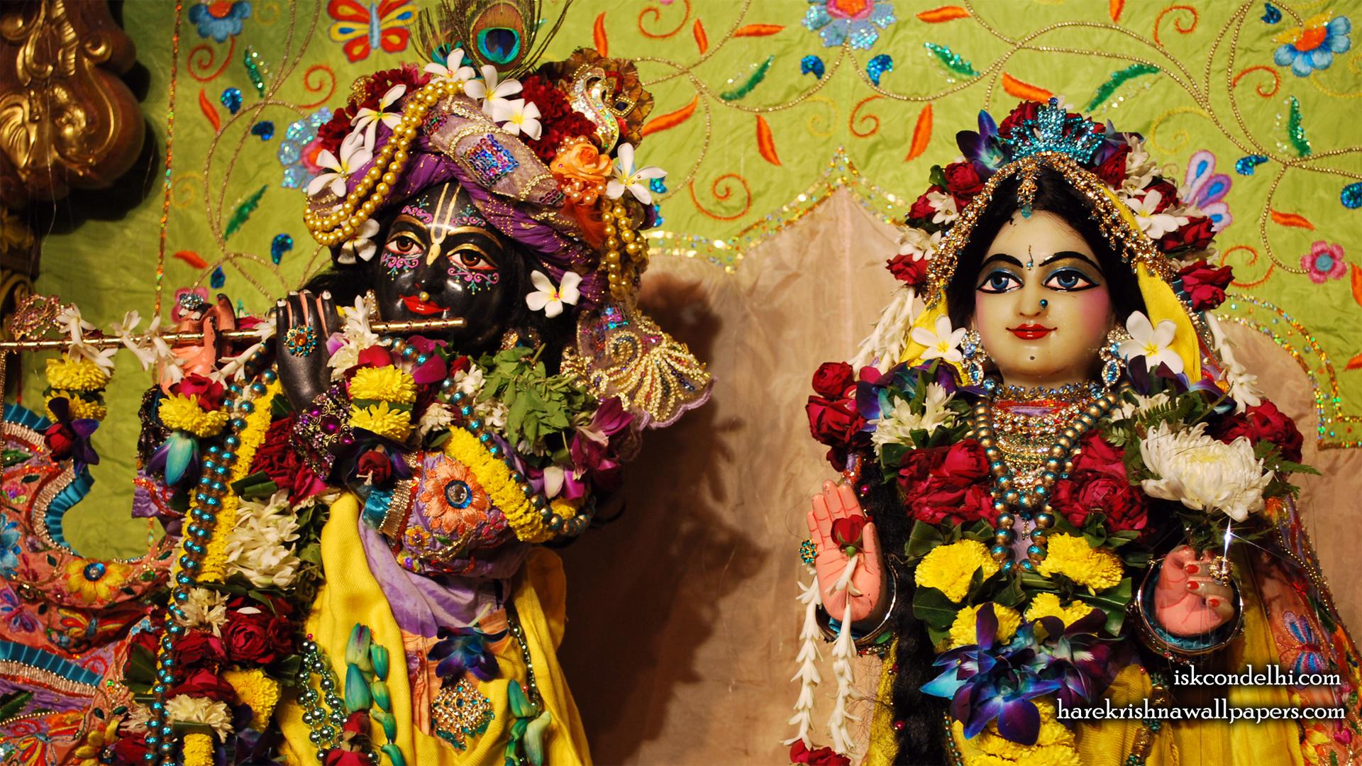 Sri Sri Radha Parthasarathi Close up Wallpaper (015) Size 1920x1080 Download