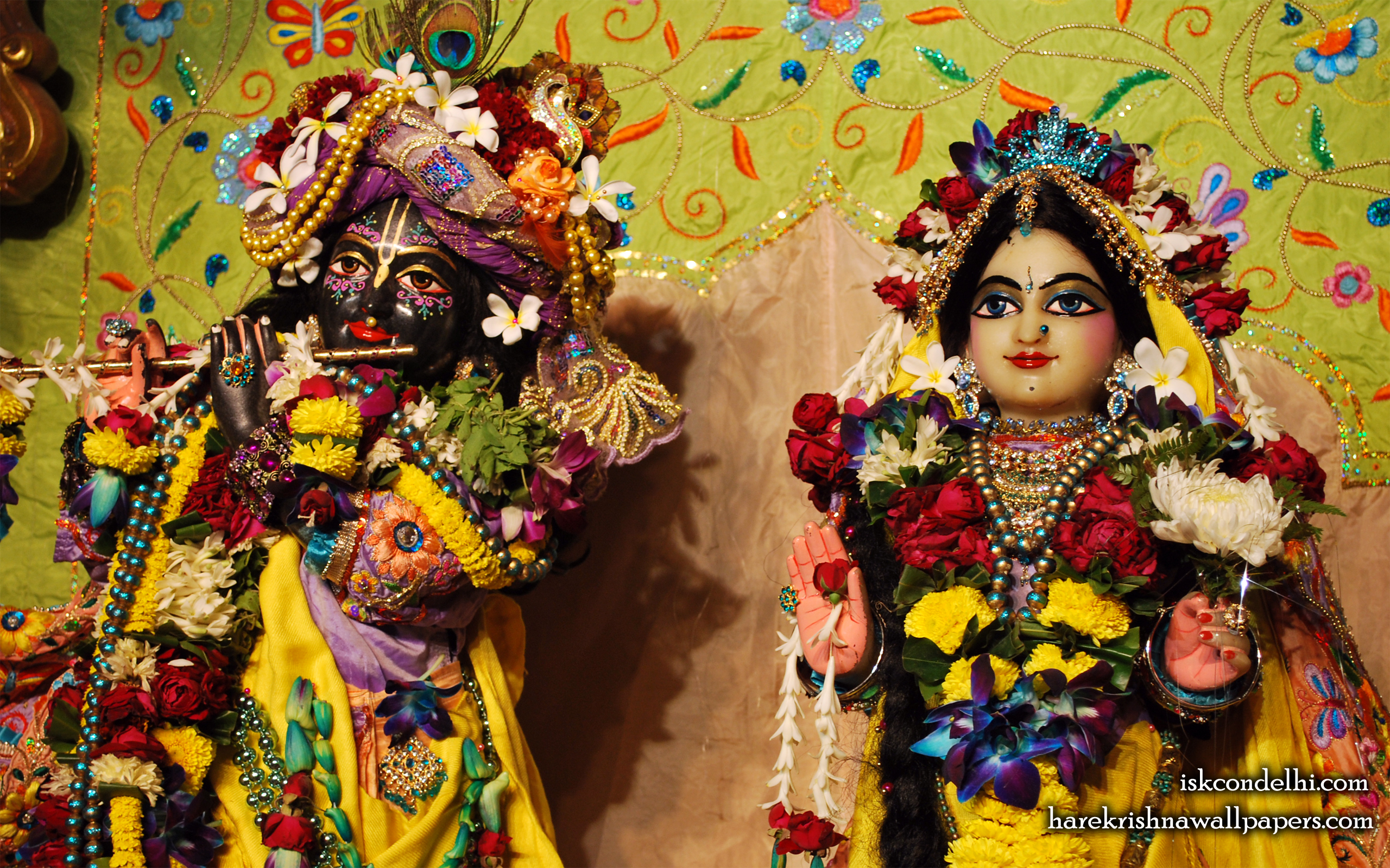 Sri Sri Radha Parthasarathi Close up Wallpaper (015) Size 2560x1600 Download